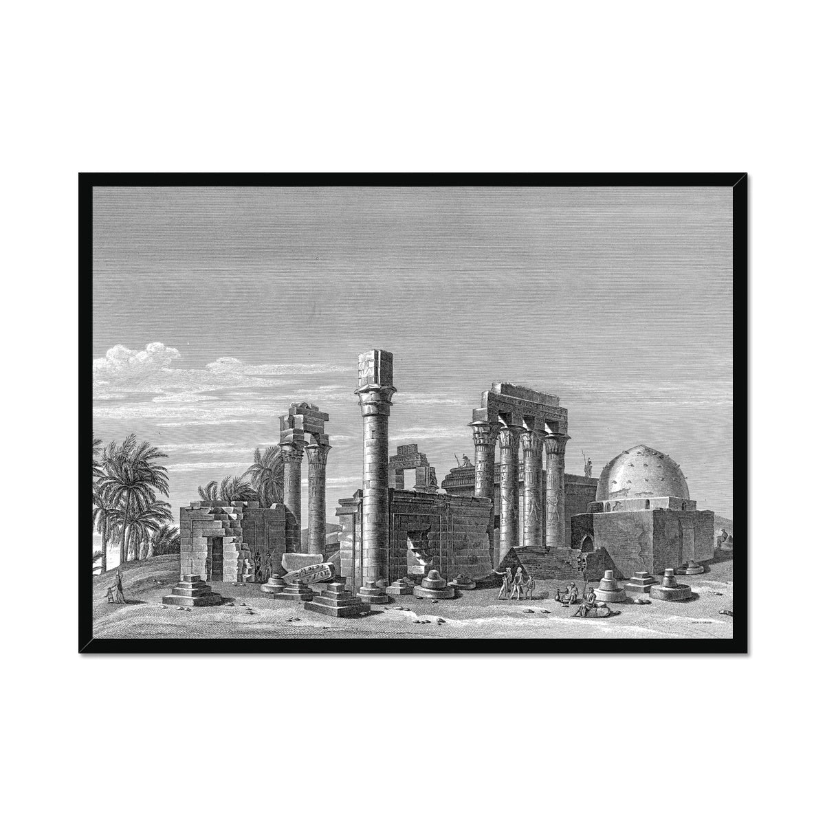 The Temple of Hermonthis Ruins 3 - Armant Egypt -  Framed Print