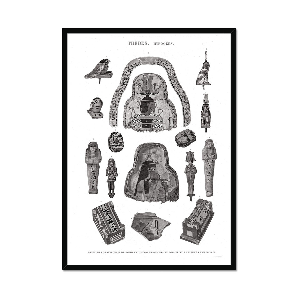 Mummy Fragments - Egypt -  Framed Print