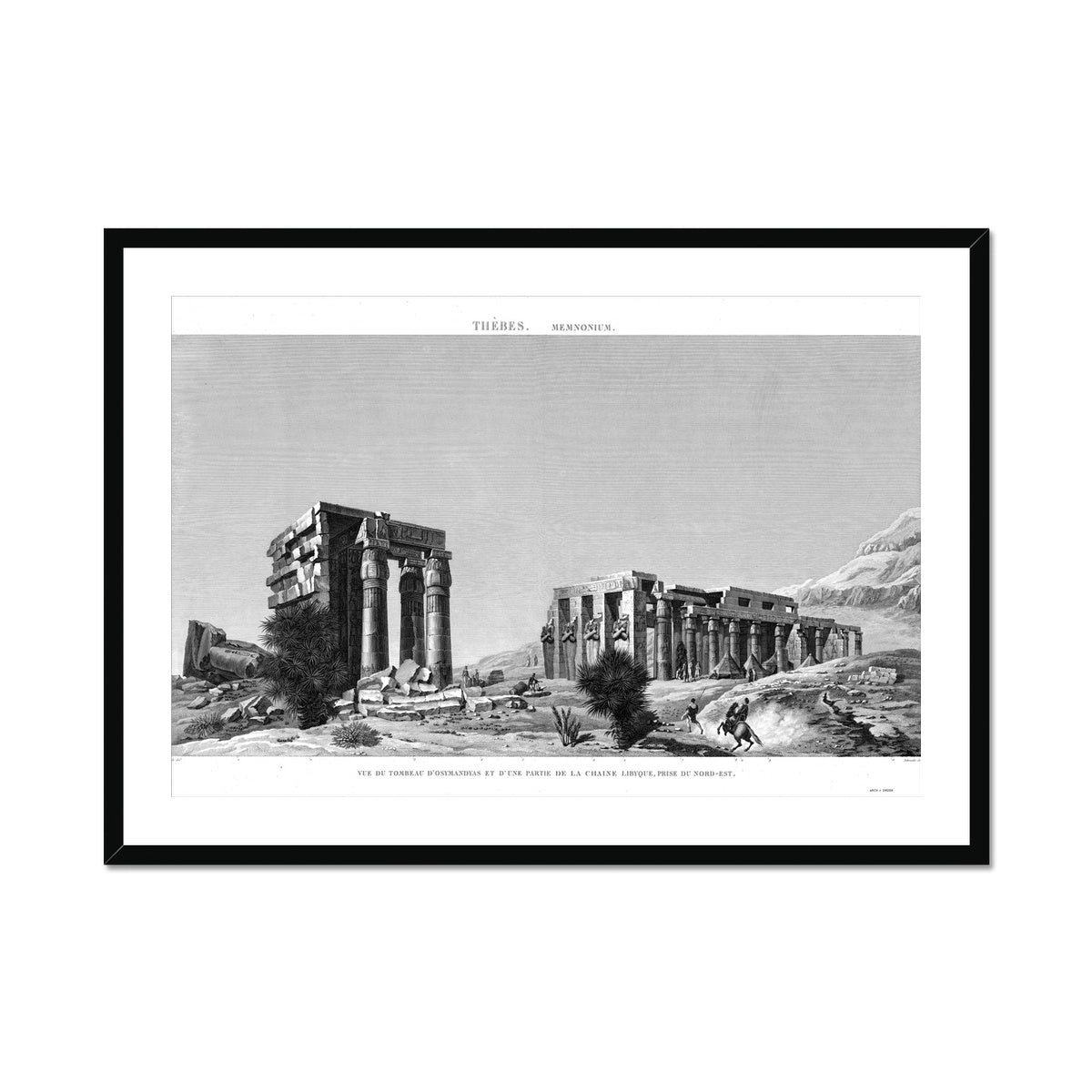 The Tomb of Osymandyas View 2 - Memnonium - Thebes Egypt -  Framed & Mounted Print