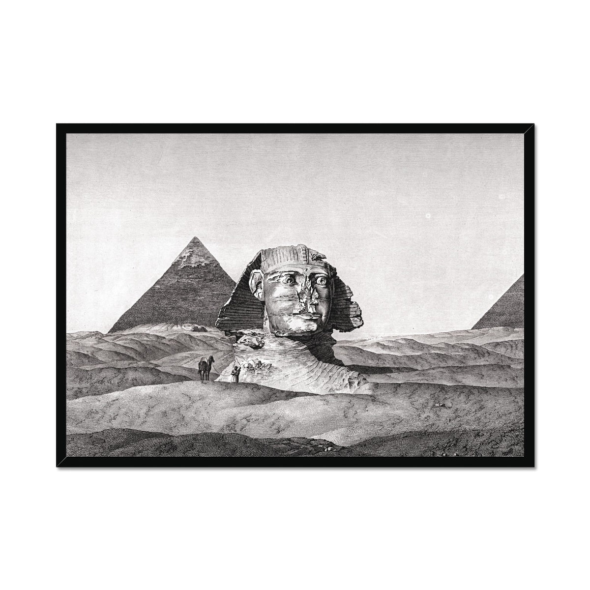 View of the Sphinx 2 - Memphis Egypt -  Framed Print