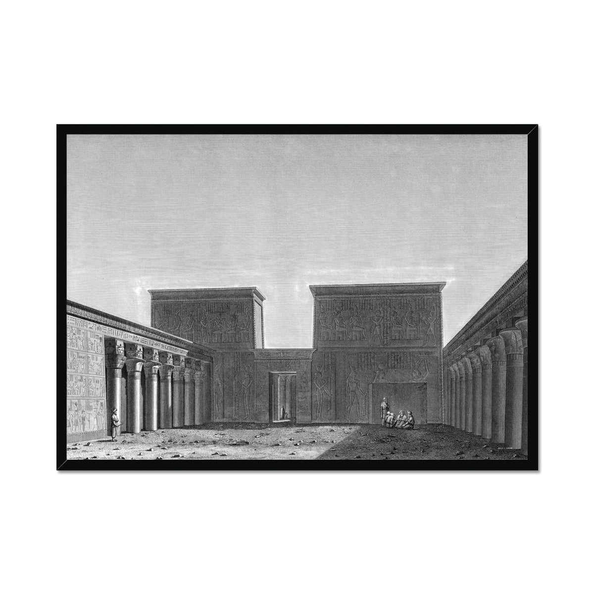 The Temple of Isis View of Second Pylon - Philae Egypt -  Framed Print