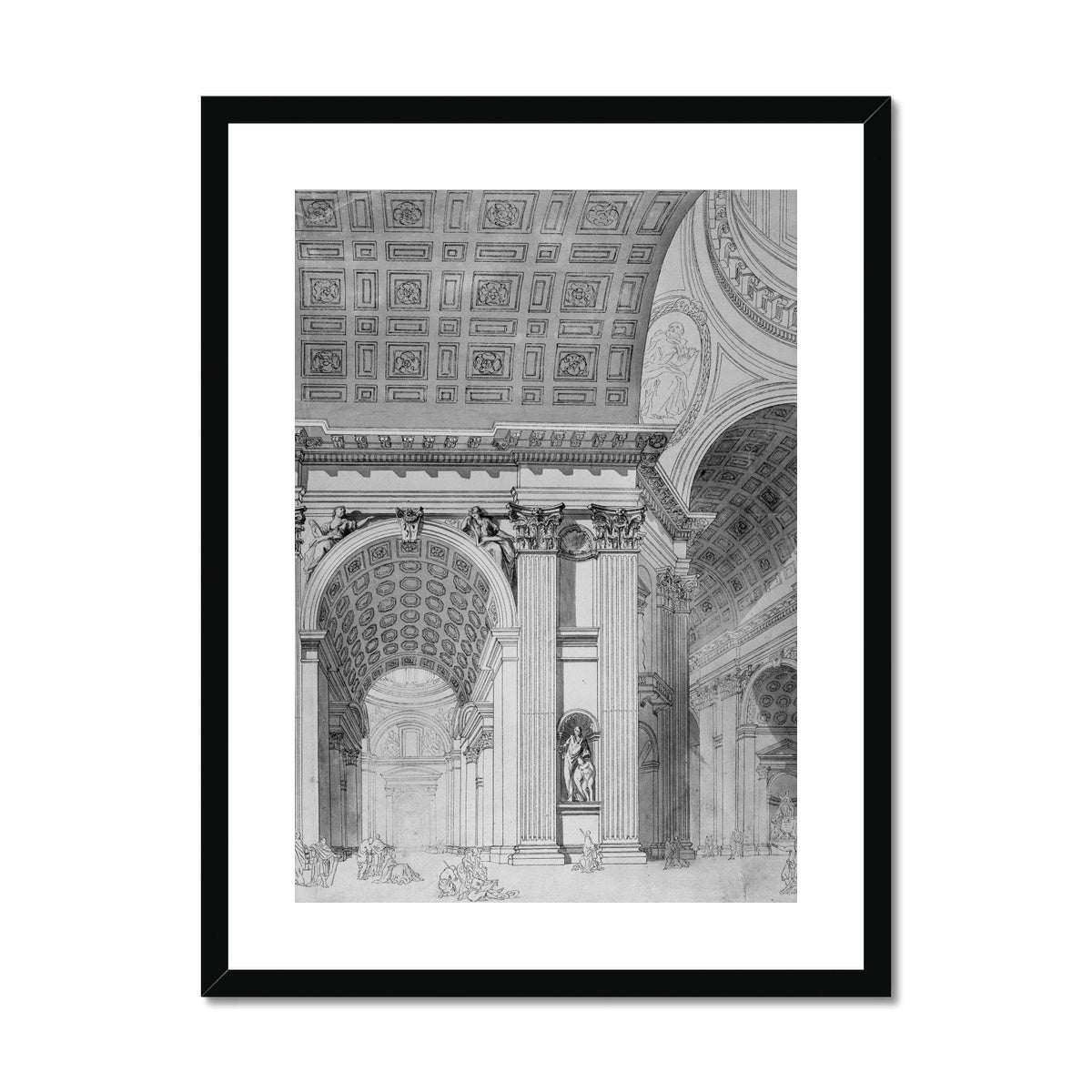 Saint Peter's Basilica - Interior Detail -  Framed & Mounted Print