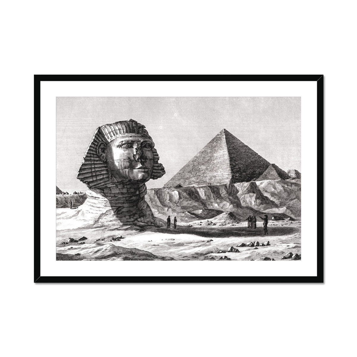 View of the Sphinx - Memphis Egypt -  Framed & Mounted Print