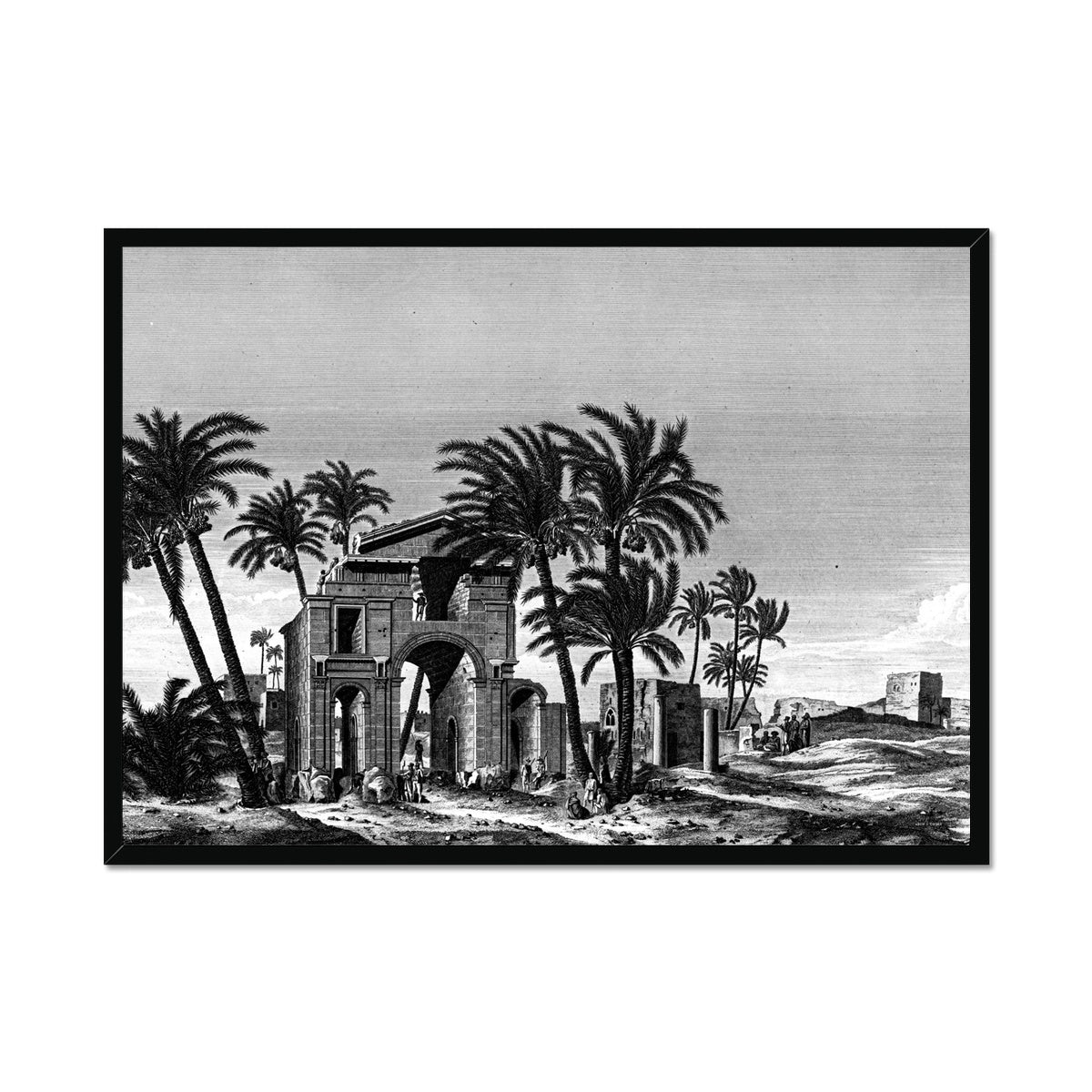 Triumphal Arch View - Antinoöpolis Egypt -  Framed Print