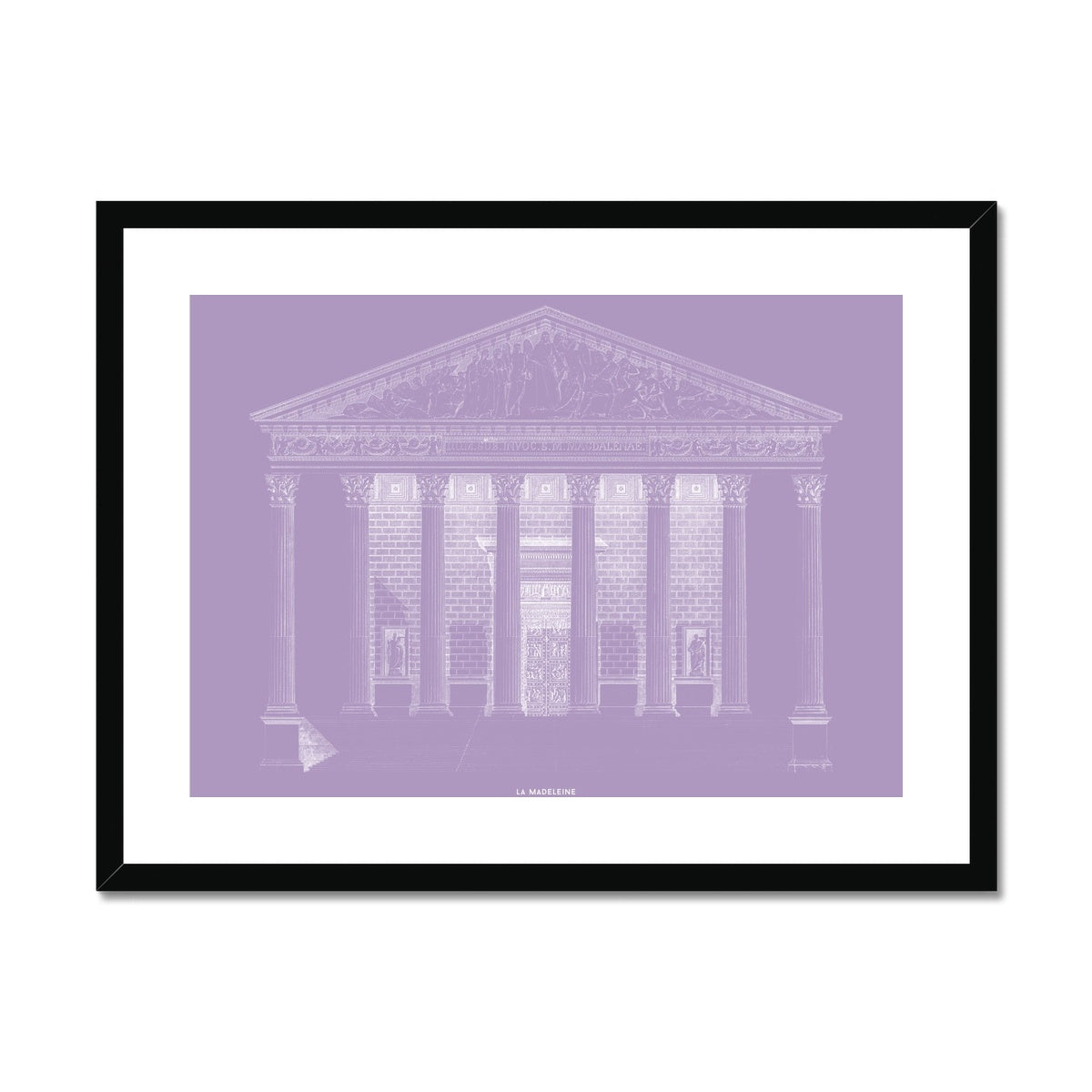 La Madeleine - Primary Elevation - Lavender -  Framed & Mounted Print