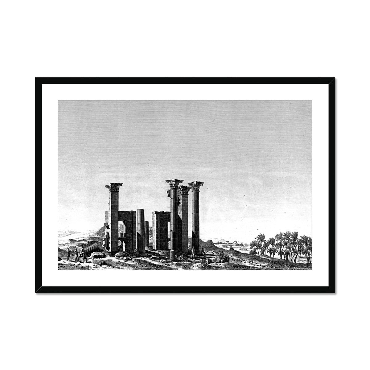 Theater Portico - Antinoöpolis Egypt -  Framed & Mounted Print