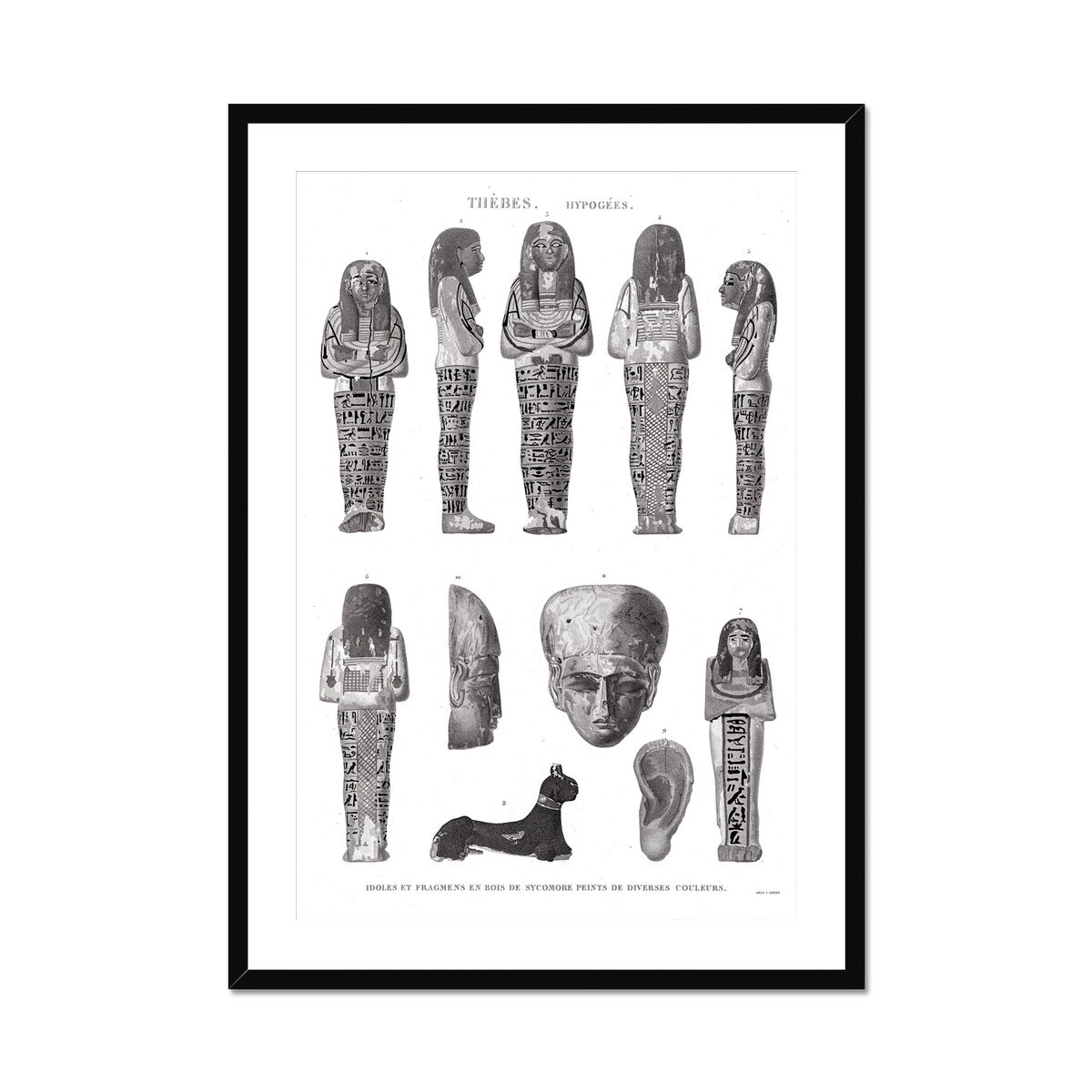 Mummy Fragments 2 - Egypt -  Framed & Mounted Print