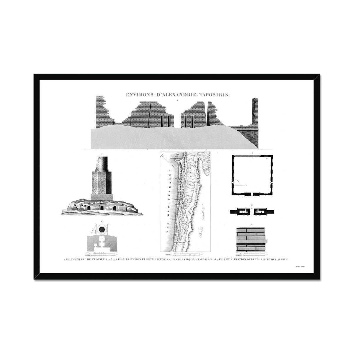 Plan of Taposiris - Alexandria Egypt -  Framed Print