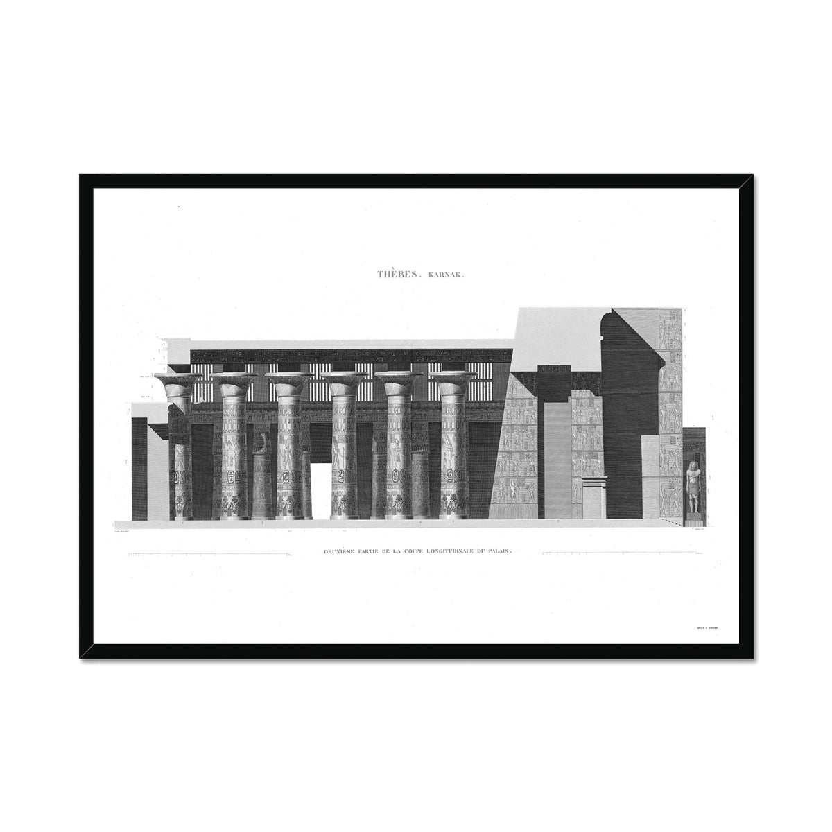 Section of the Palace 3 - Karnak - Thebes Egypt -  Framed Print