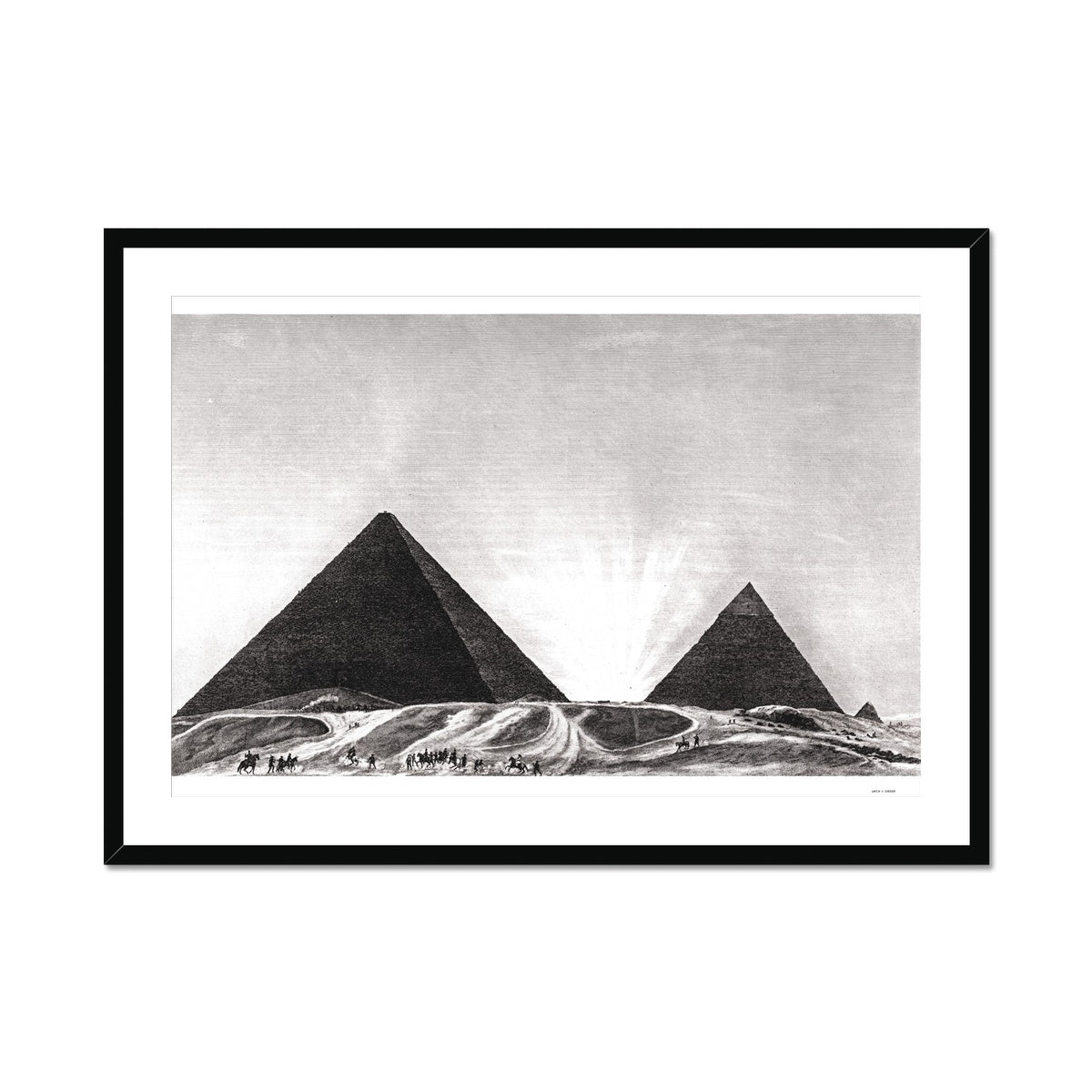 Entrance to the Grand Pyramid - Memphis Egypt -  Framed & Mounted Print