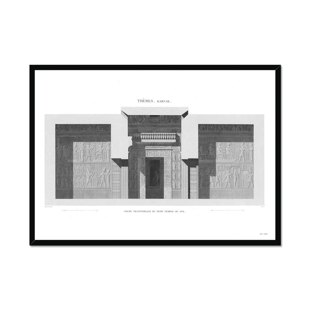 Sections of the Small Southern Temple 3 - Karnak - Thebes Egypt -  Framed Print