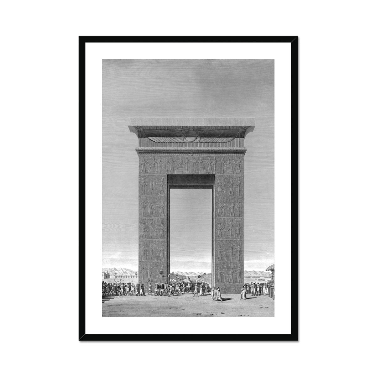 Elevation of the South Gate - Karnak - Thebes Egypt -  Framed & Mounted Print