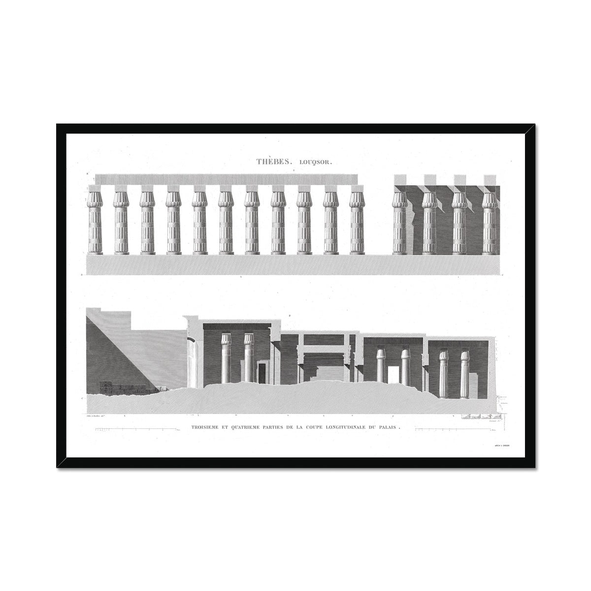 Cross Section of the Palace 3 - Luxor - Thebes Egypt -  Framed Print