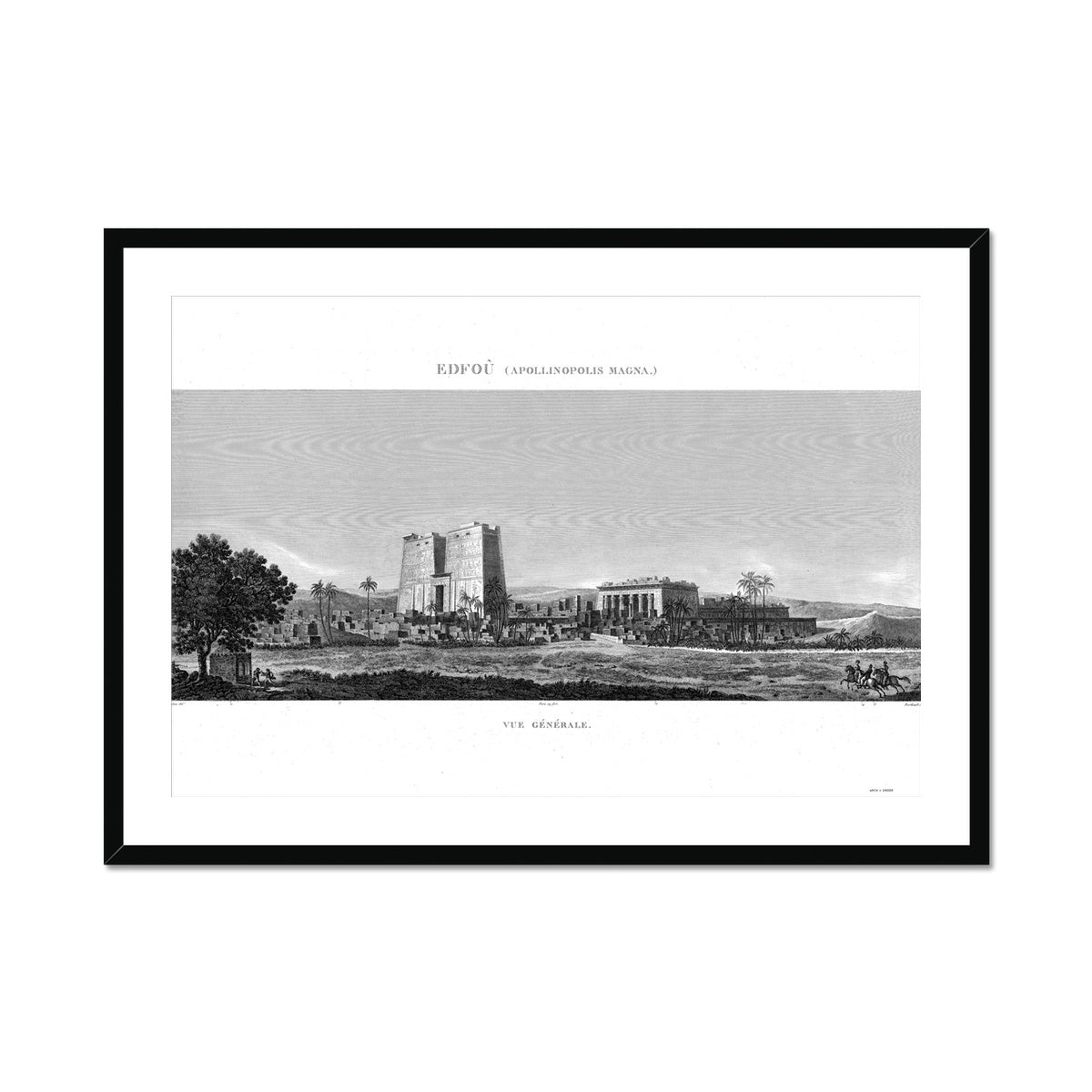 Temple of Horus Perspective 1 - Edfu Egypt -  Framed & Mounted Print