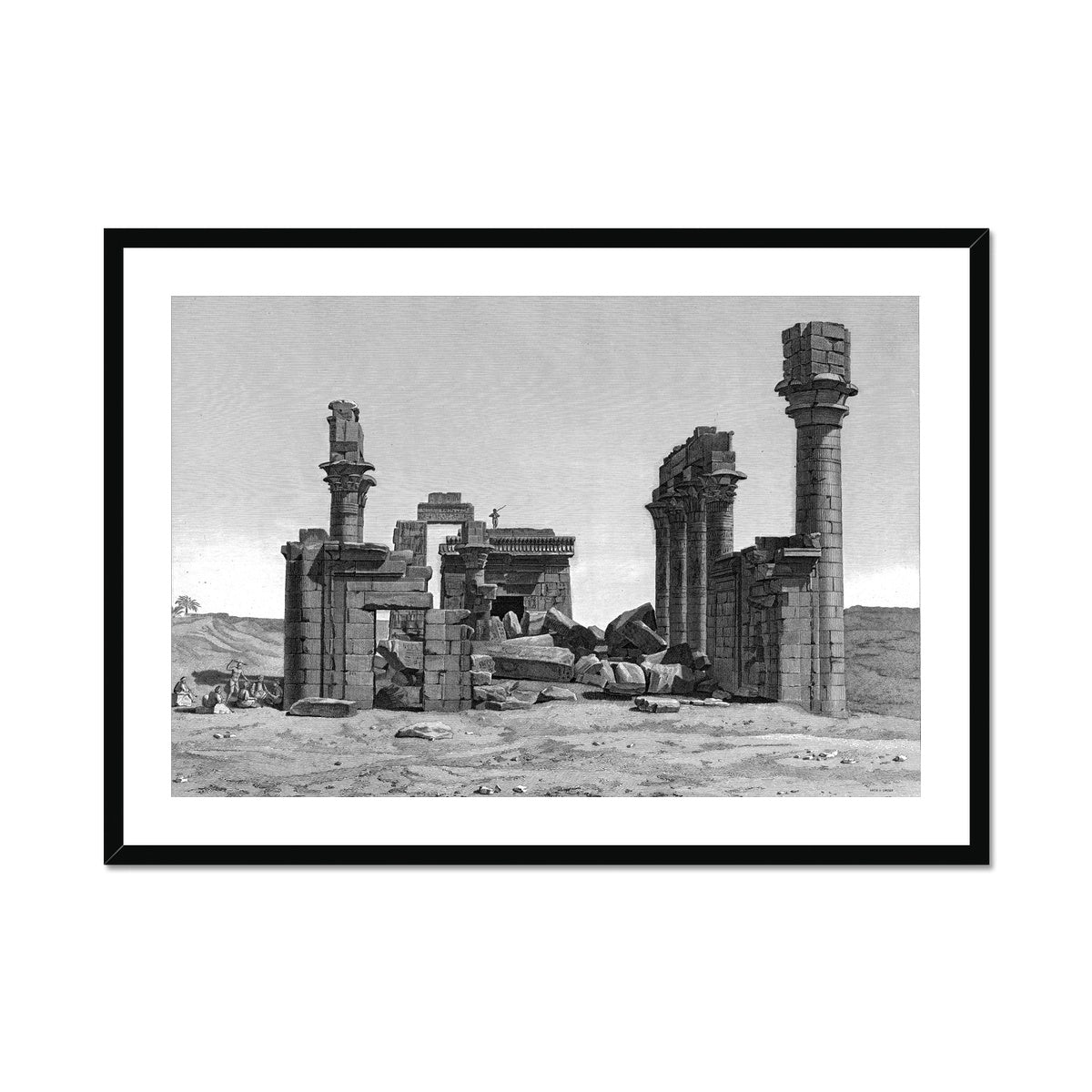 The Temple of Hermonthis Ruins 2 - Armant Egypt -  Framed & Mounted Print