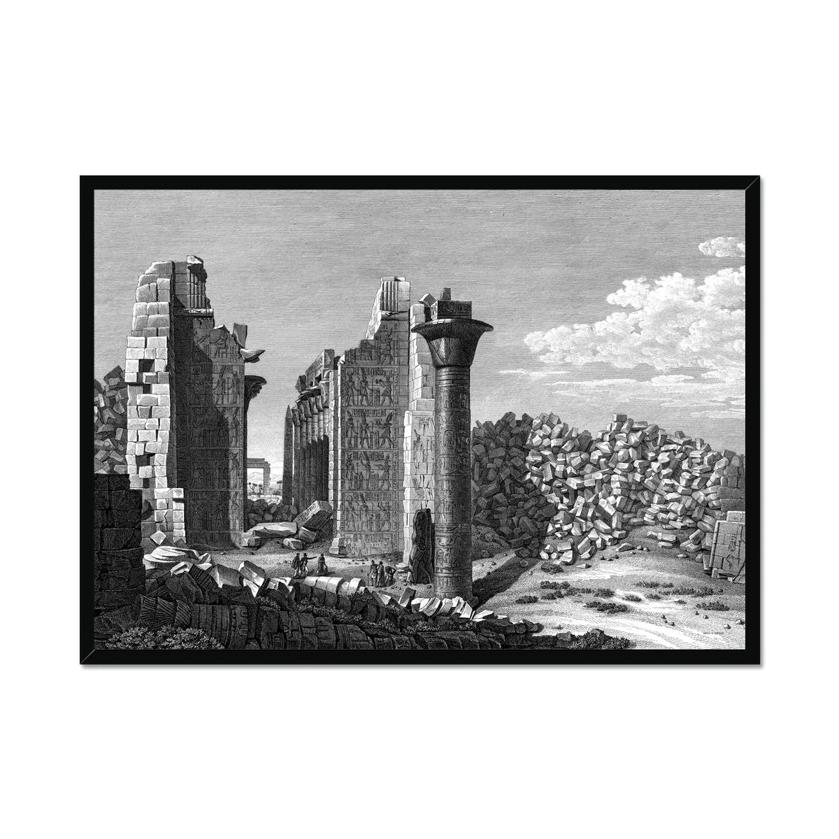 View of the Palace from the Courtyard - Karnak - Thebes Egypt -  Framed Print