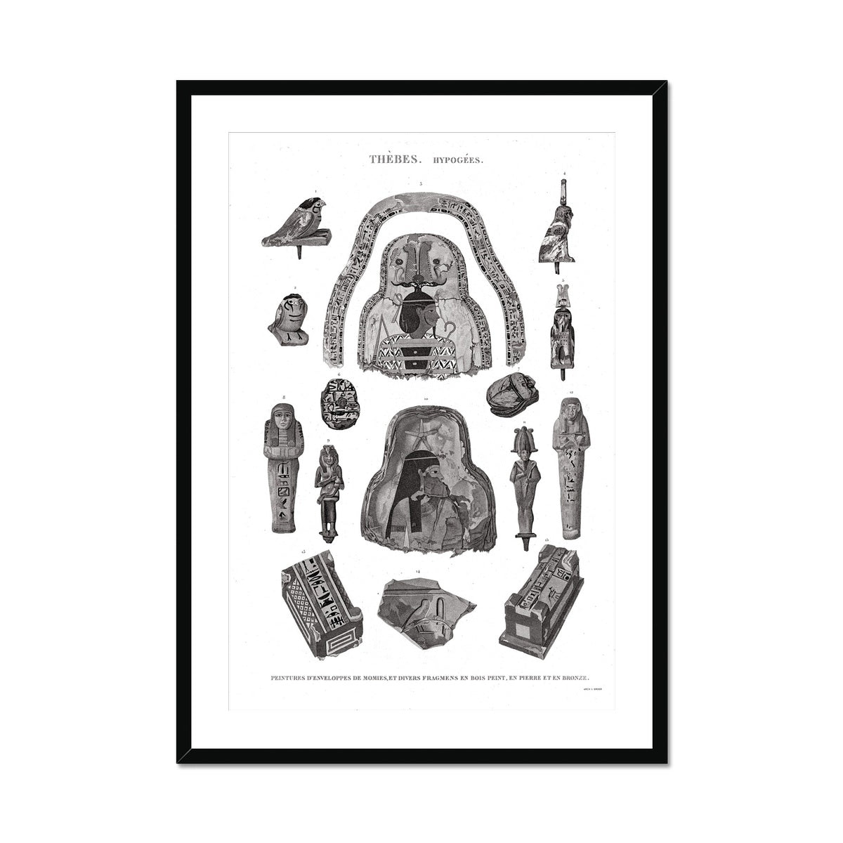 Mummy Fragments - Egypt -  Framed & Mounted Print