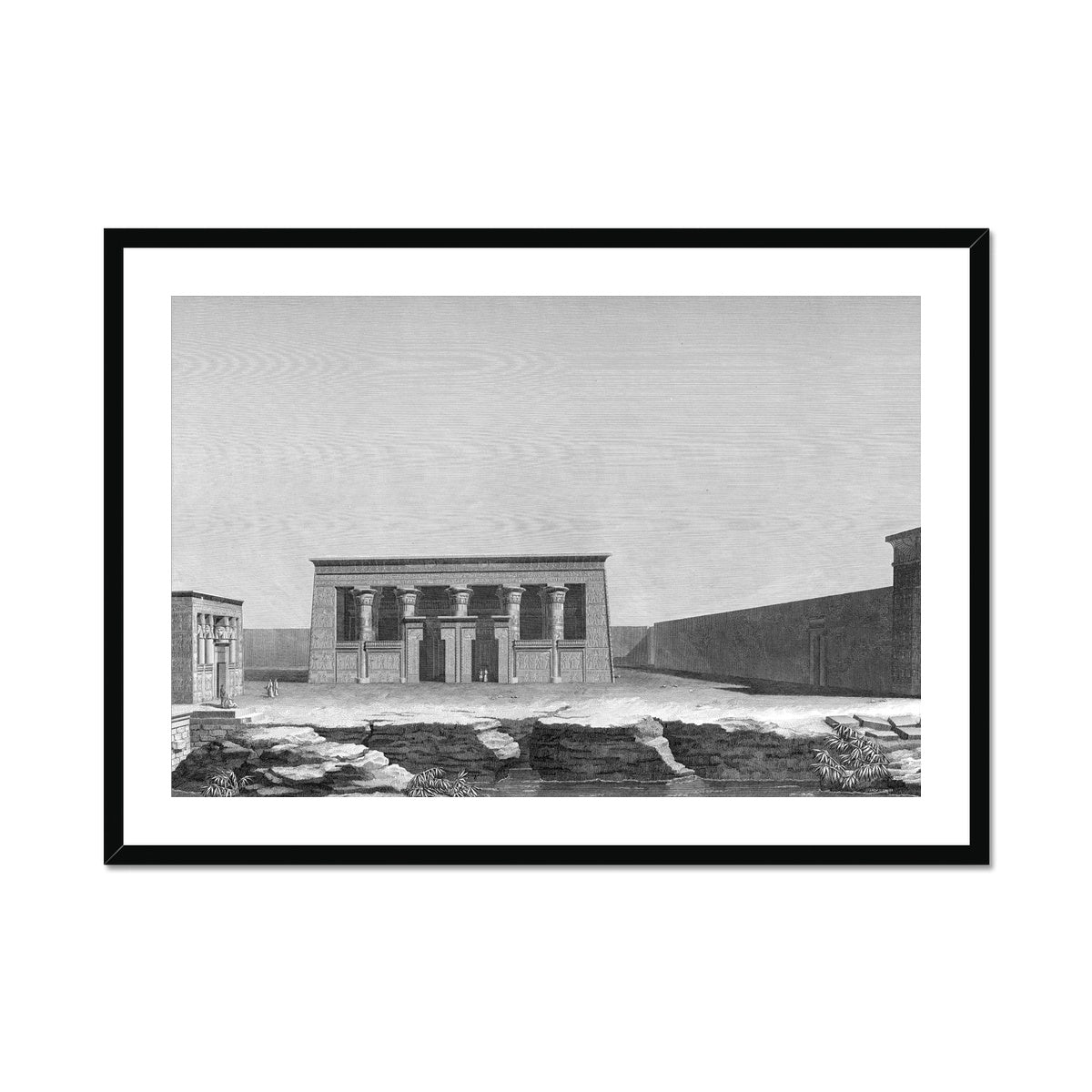 Perspective of the Two Temples - Kom Ombo Egypt -  Framed & Mounted Print