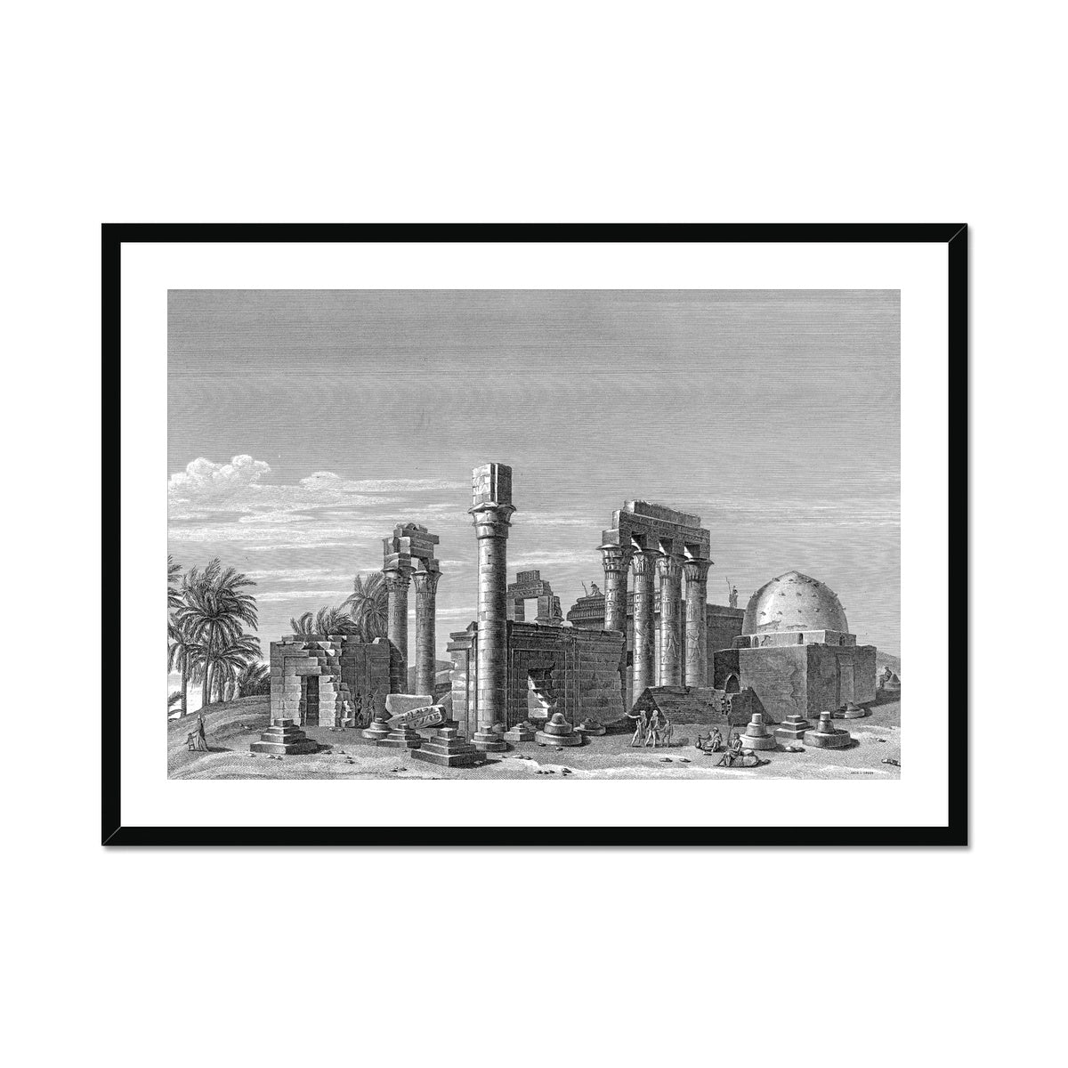 The Temple of Hermonthis Ruins 3 - Armant Egypt -  Framed & Mounted Print