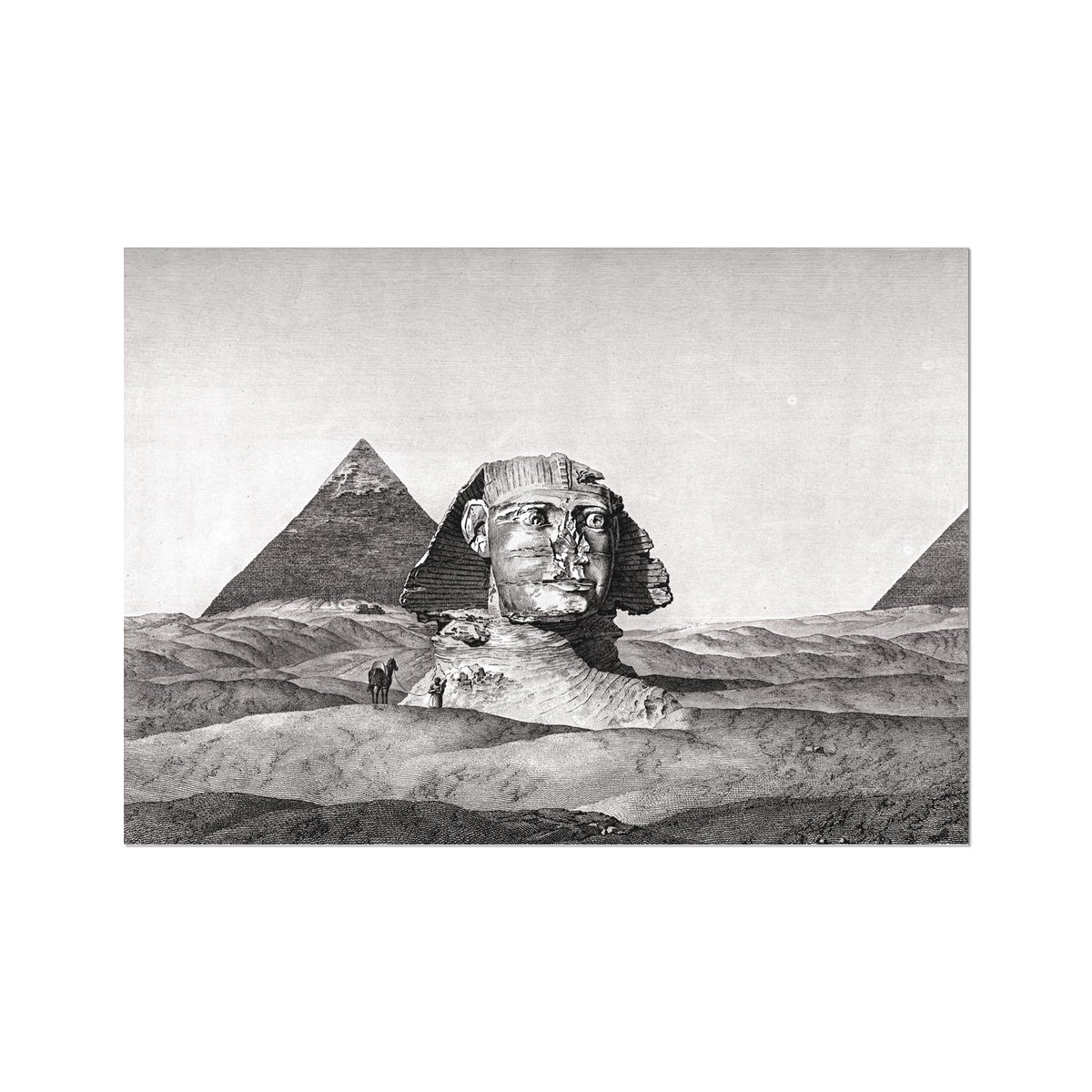 View of the Sphinx 2 - Memphis Egypt -  Etching Paper Print