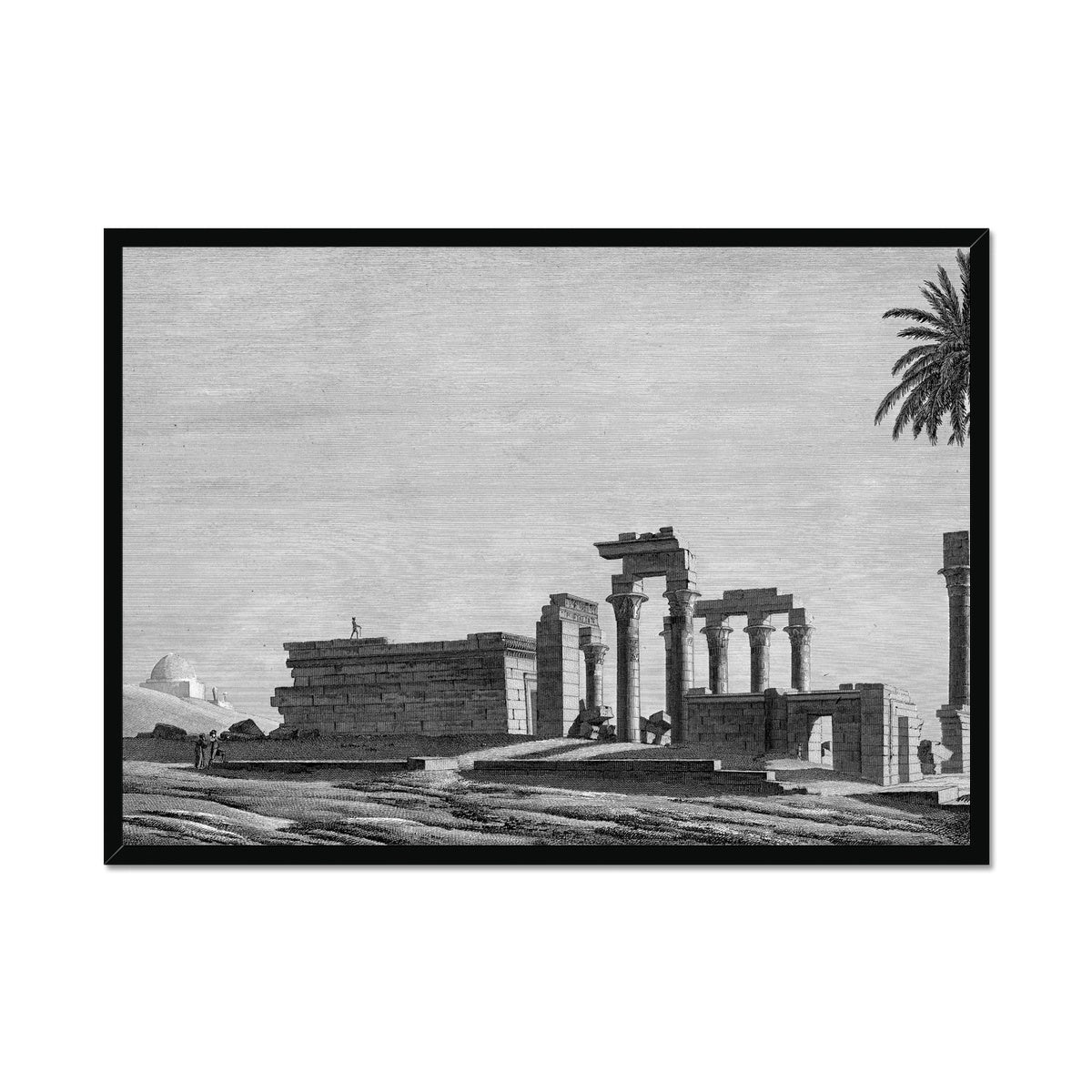 The Temple of Hermonthis Ruins 1 - Armant Egypt -  Framed Print