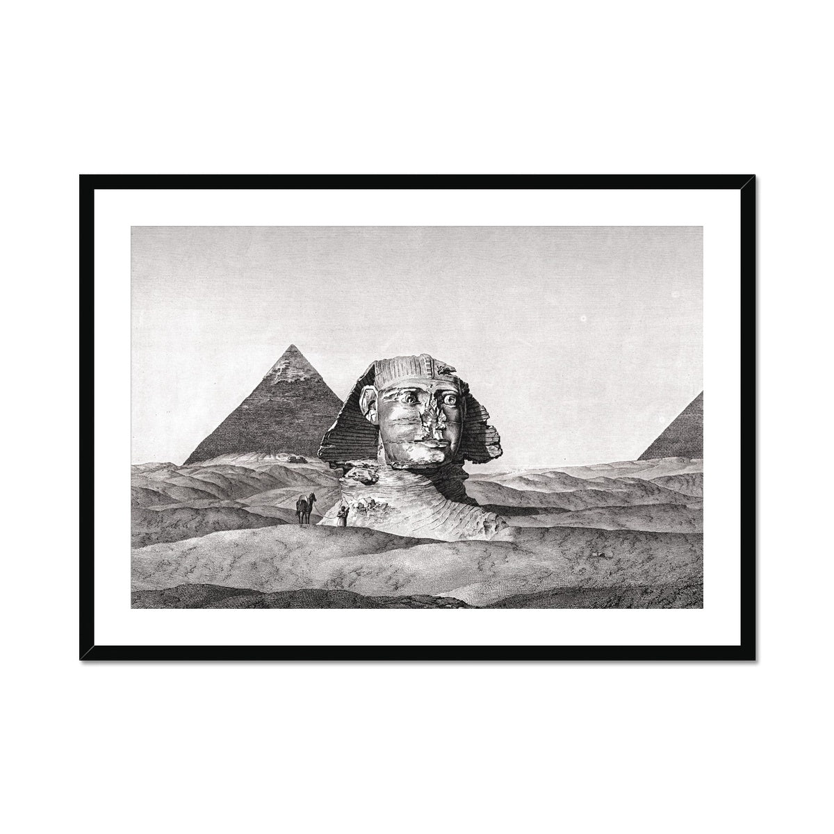 View of the Sphinx 2 - Memphis Egypt -  Framed & Mounted Print