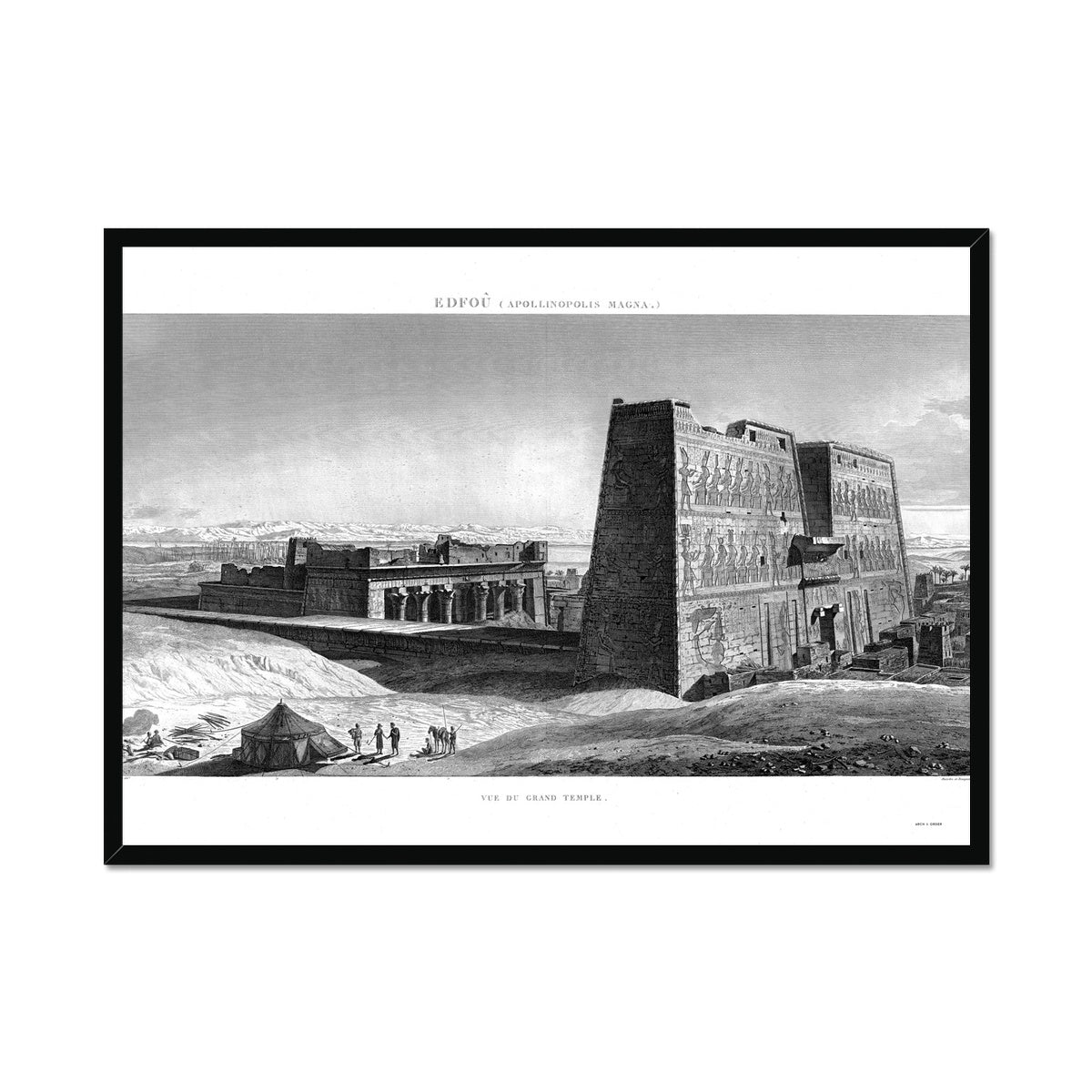 Temple of Horus Perspective 2 - Edfu Egypt -  Framed Print