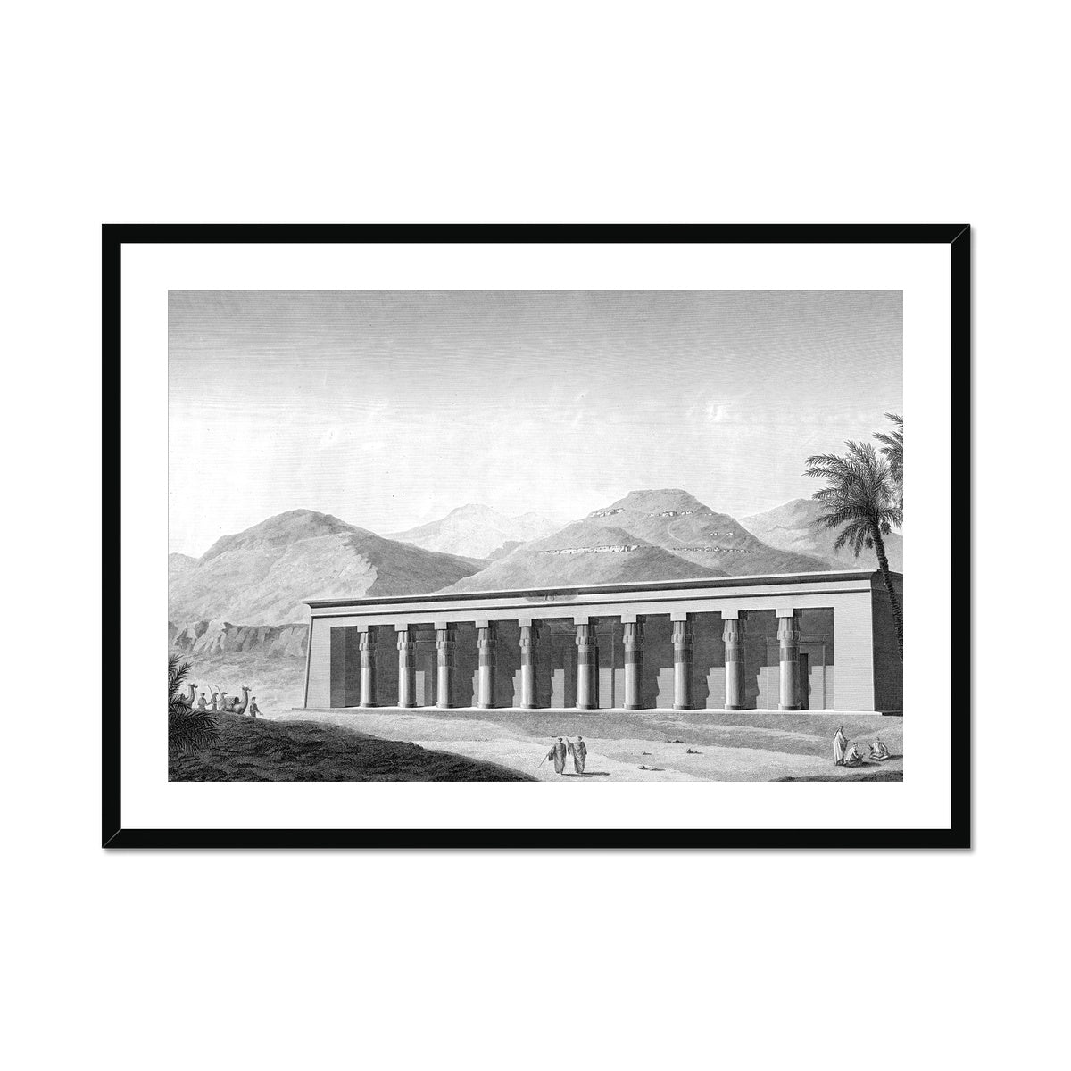 View of the Palace - Qournah - Thebes Egypt -  Framed & Mounted Print