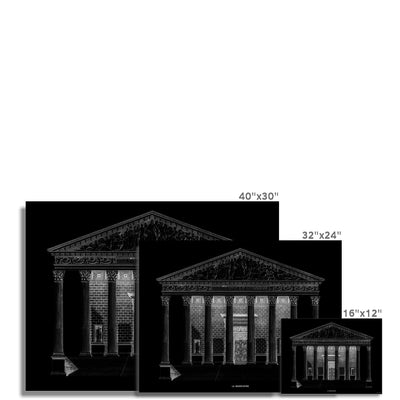 La Madeleine - Primary Elevation - Black -  Etching Paper Print