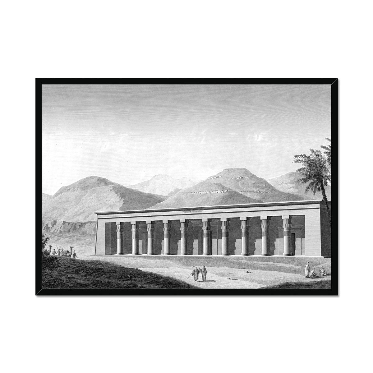 View of the Palace - Qournah - Thebes Egypt -  Framed Print