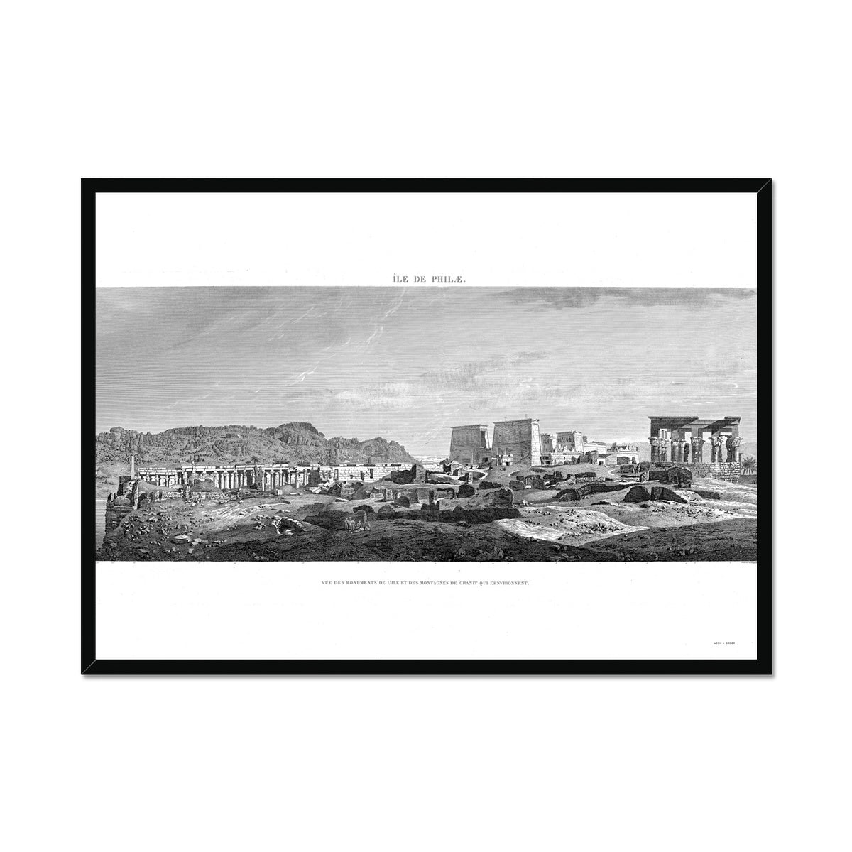 Temple of Isis Profile View - Philae Egypt -  Framed Print