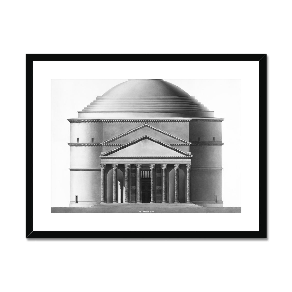 The Pantheon - Alternative Elevation -  Framed & Mounted Print
