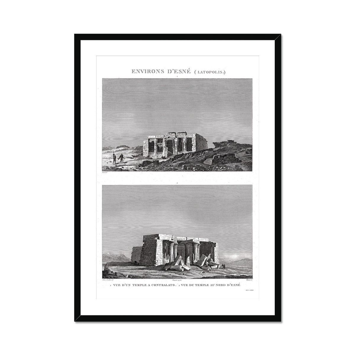 Lower and Upper Temples - Esna Egypt -  Framed & Mounted Print