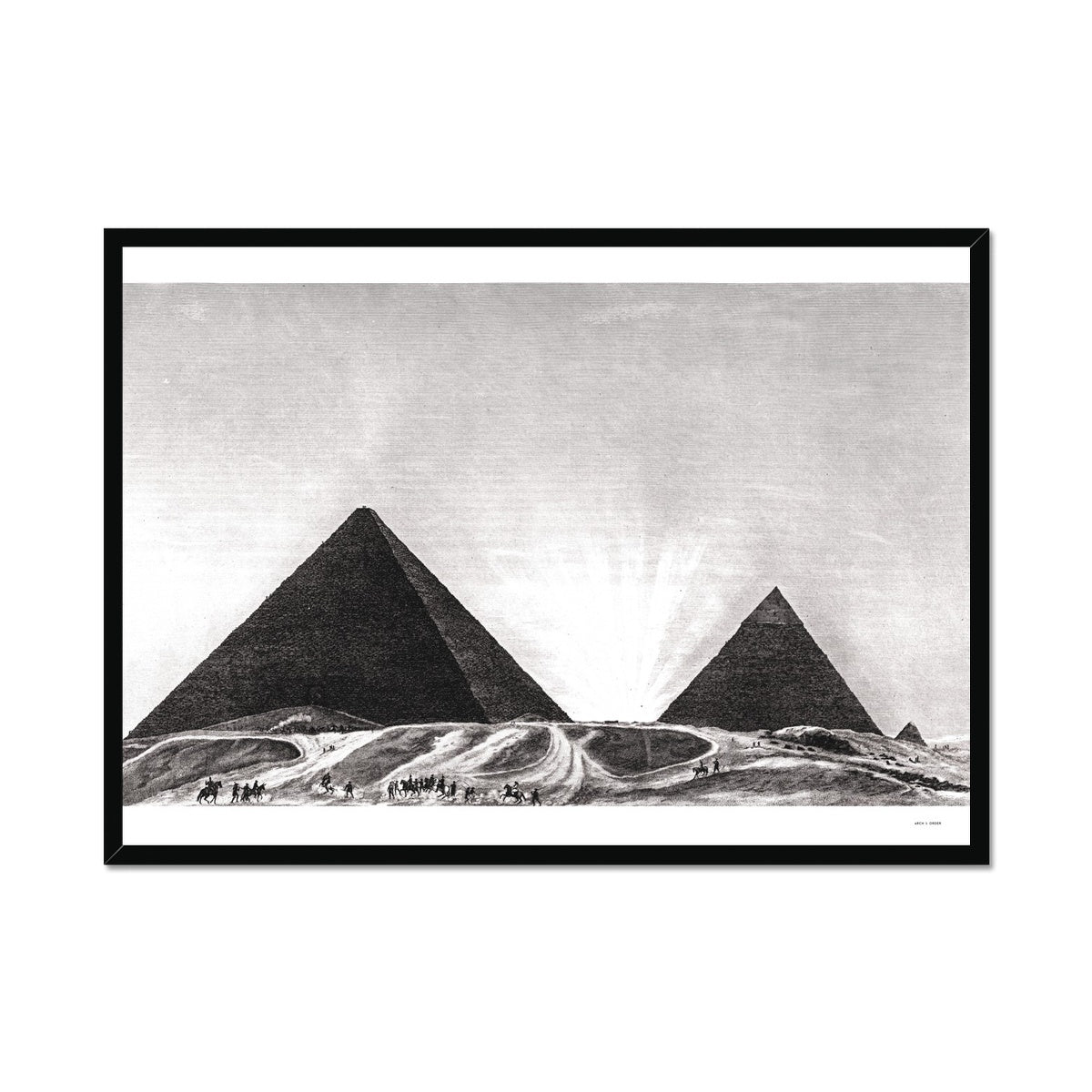 Entrance to the Grand Pyramid - Memphis Egypt -  Framed Print