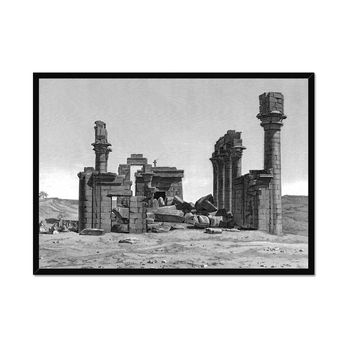 The Temple of Hermonthis Ruins 2 - Armant Egypt -  Framed Print