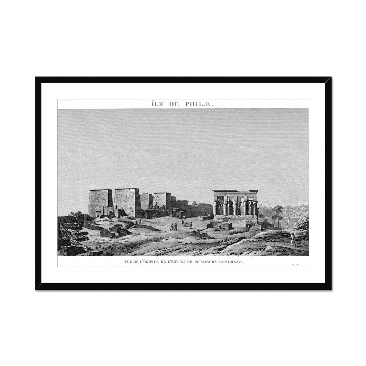 The Temple of Isis View from the East - Philae Egypt -  Framed & Mounted Print