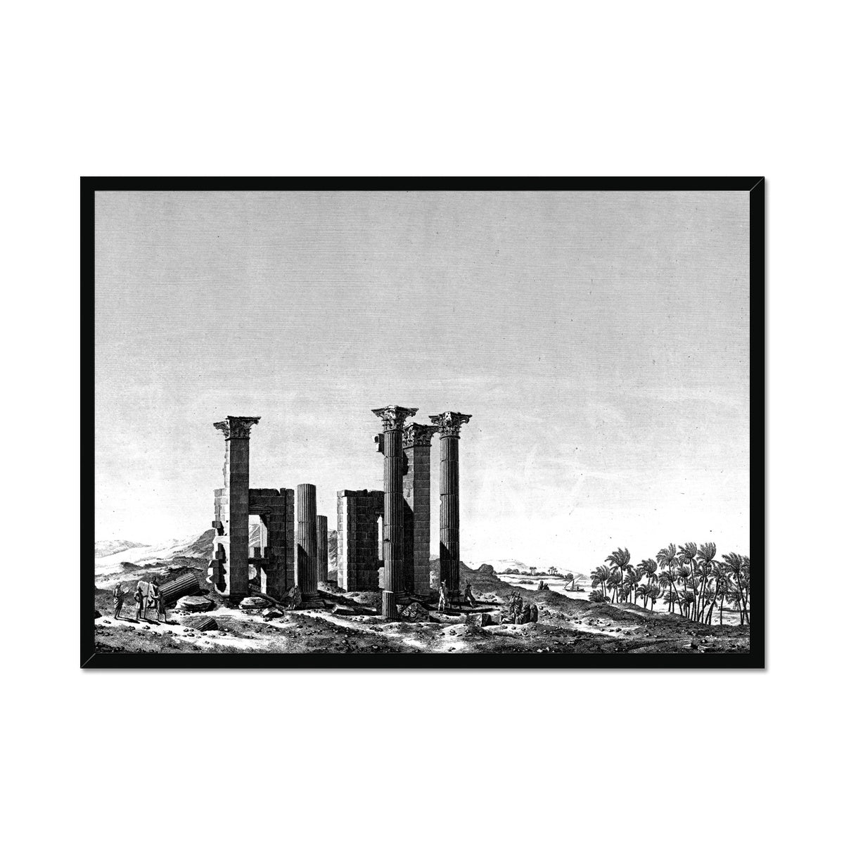 Theater Portico - Antinoöpolis Egypt -  Framed Print