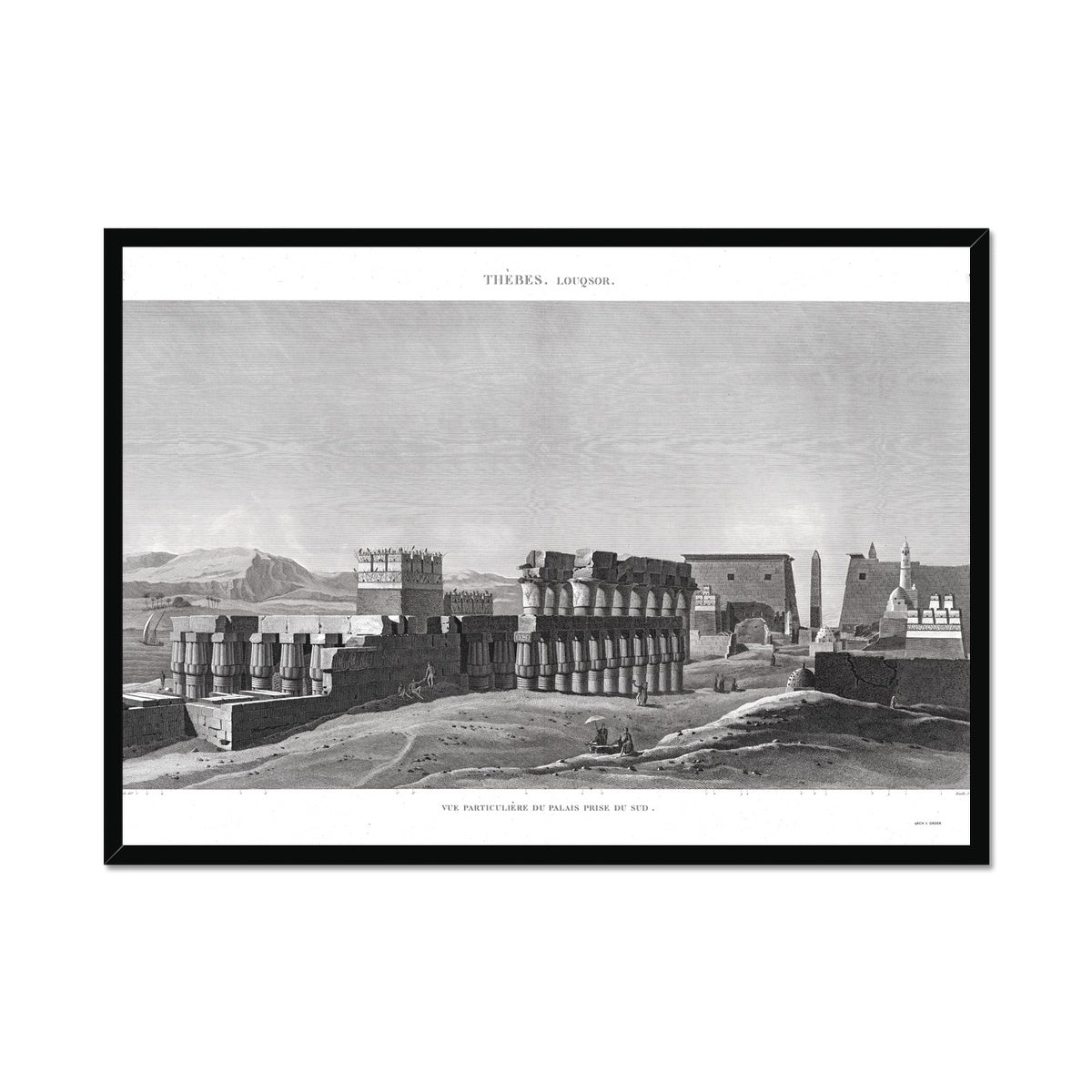 View of the Palace From the South - Luxor - Thebes Egypt -  Framed Print