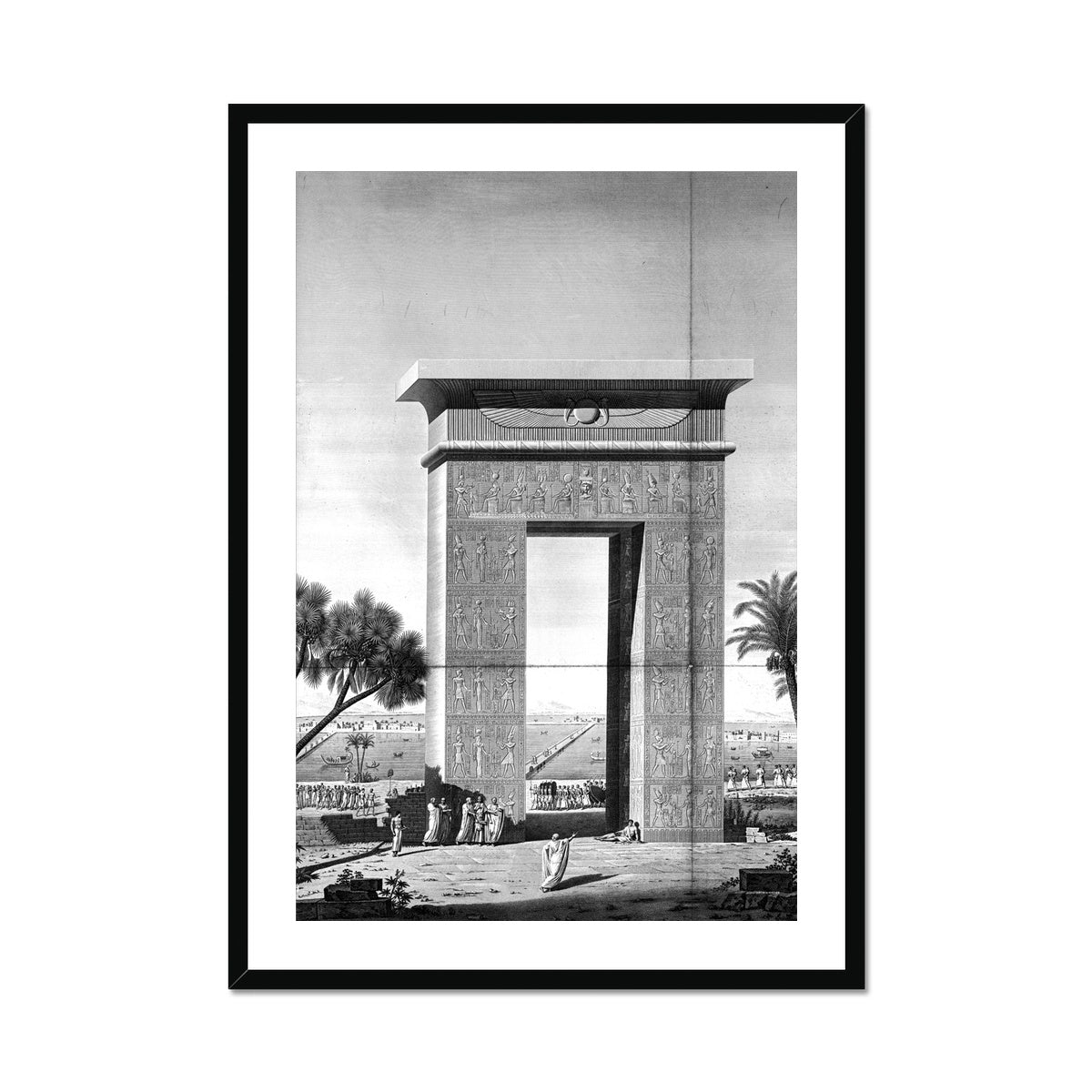 North Gate Elevation - Dendera Egypt -  Framed & Mounted Print