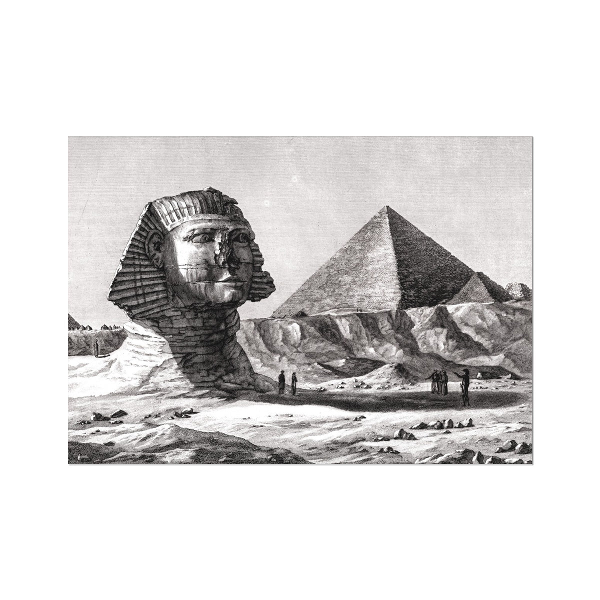 View of the Sphinx - Memphis Egypt -  Etching Paper Print
