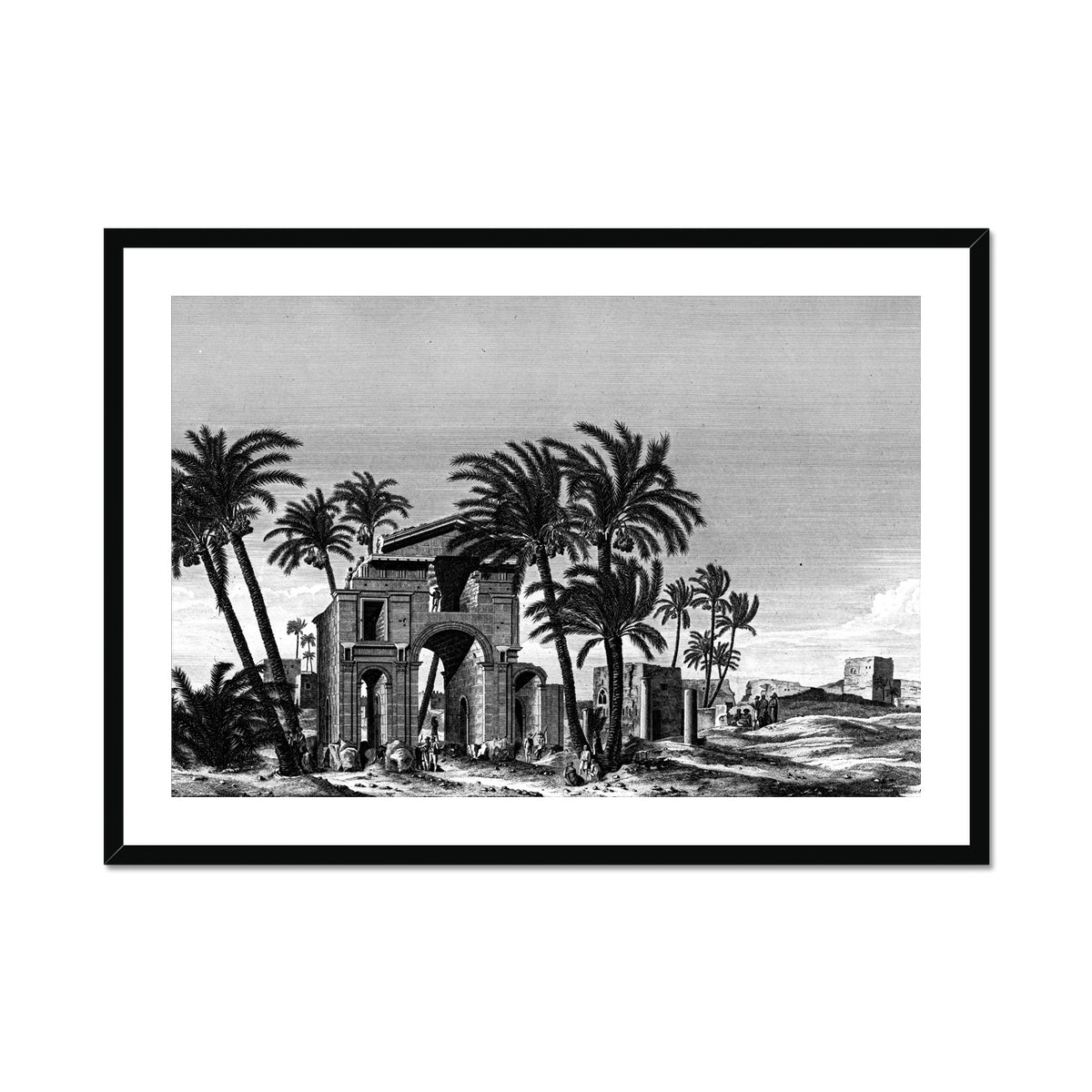 Triumphal Arch View - Antinoöpolis Egypt -  Framed & Mounted Print
