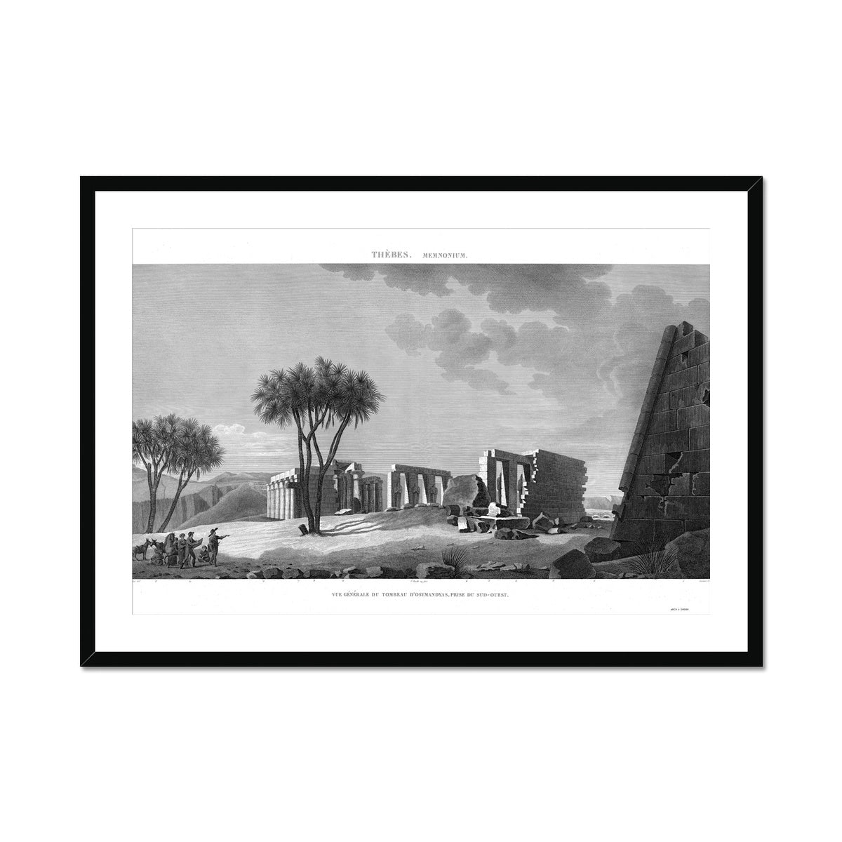 The Tomb of Osymandyas View 3 - Memnonium - Thebes Egypt -  Framed & Mounted Print