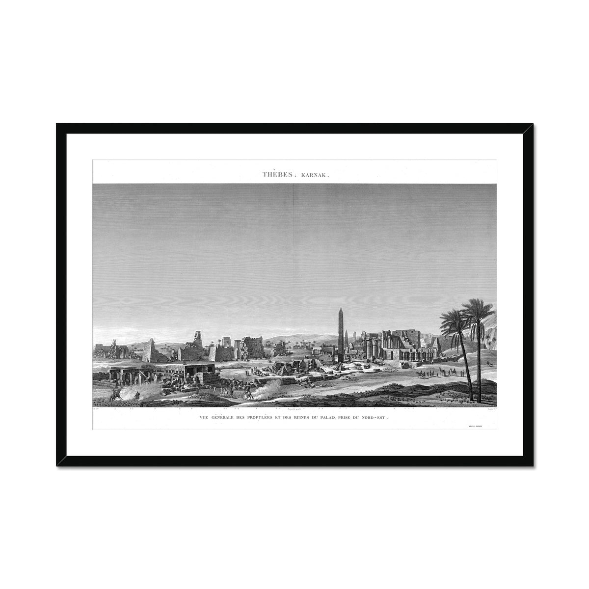 General View of the Palace Ruins - Karnak - Thebes Egypt -  Framed & Mounted Print