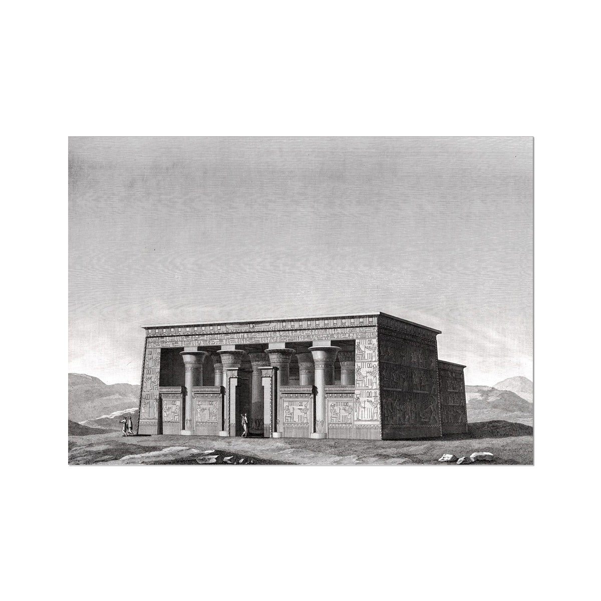 Upper Temple - Esna Egypt -  Etching Paper Print