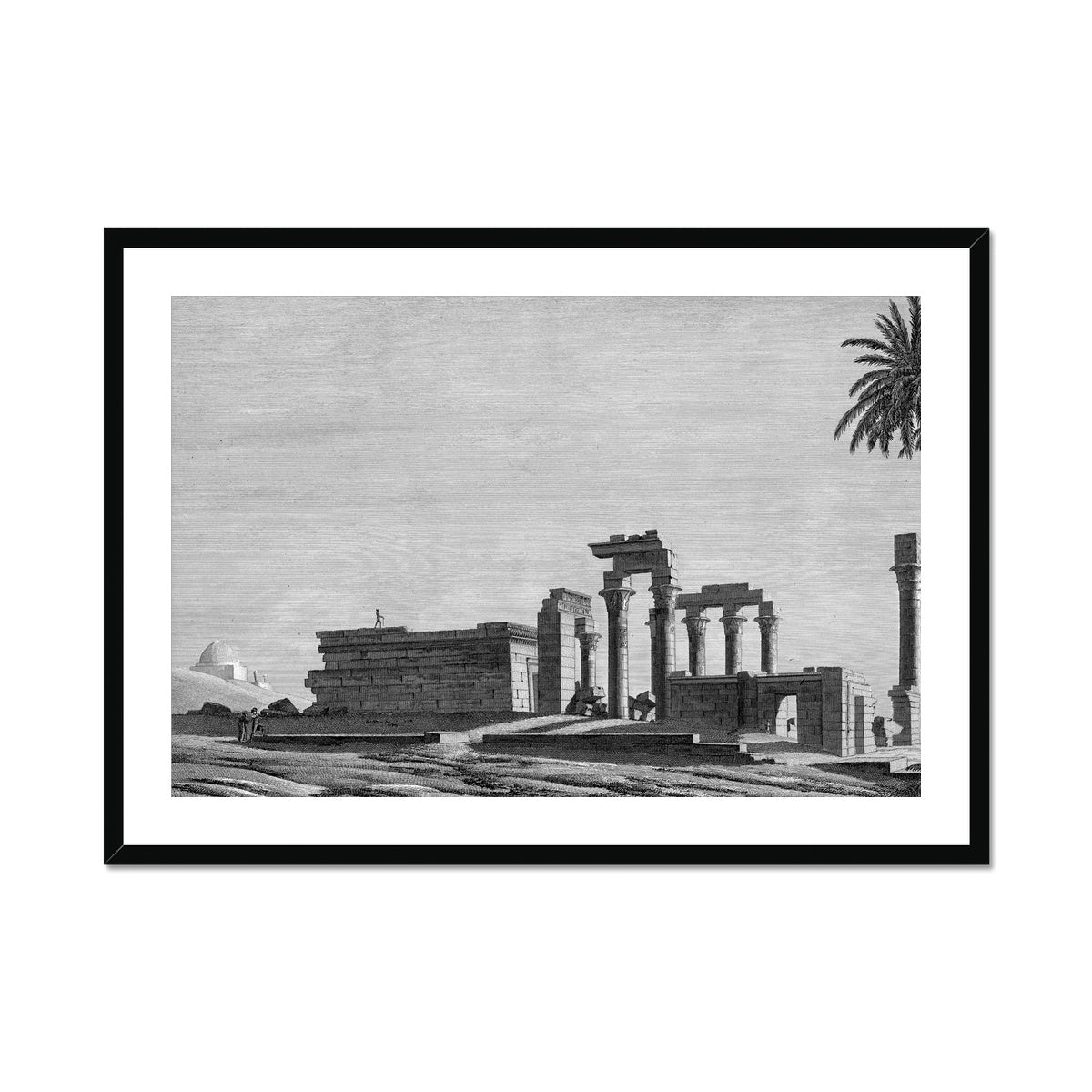 The Temple of Hermonthis Ruins 1 - Armant Egypt -  Framed & Mounted Print