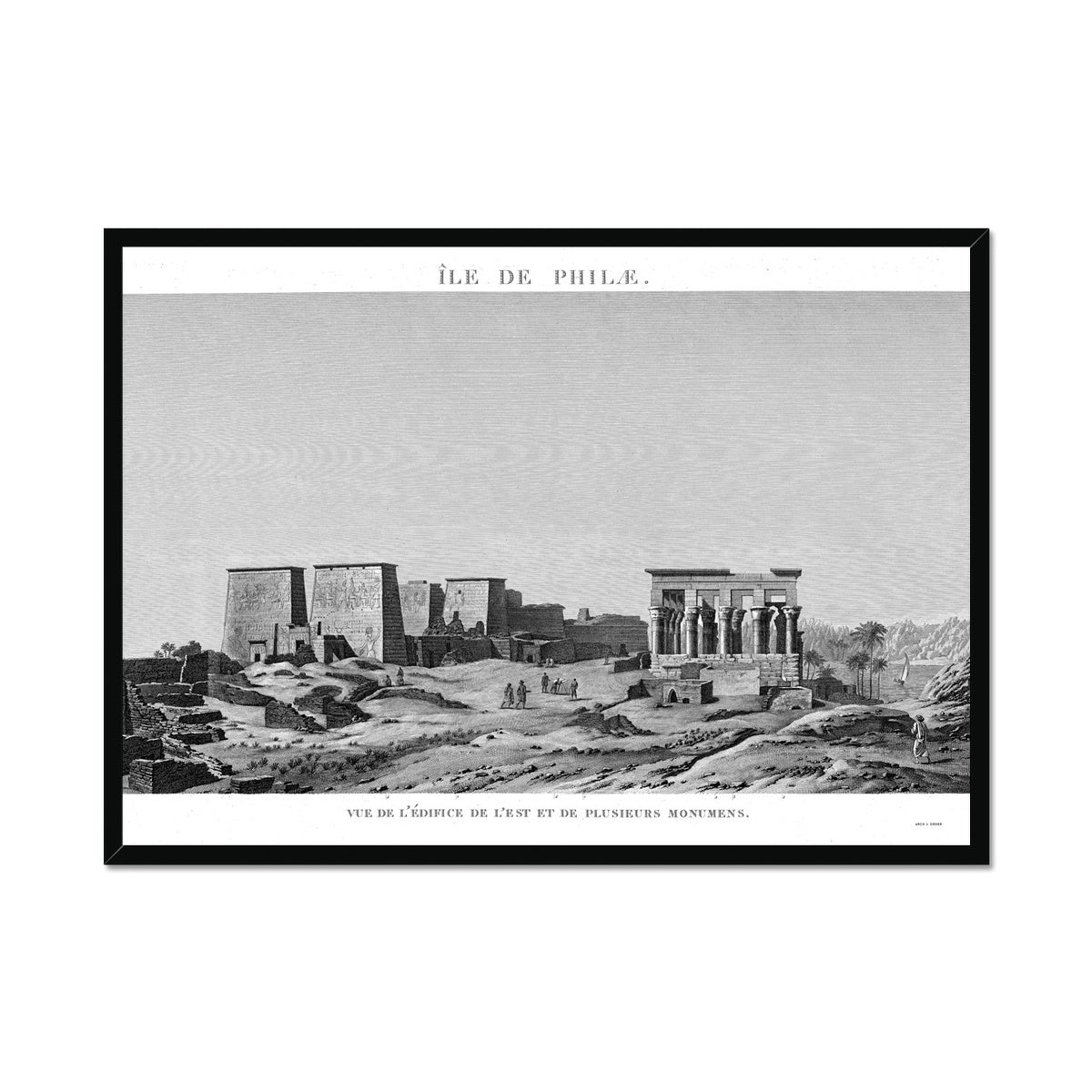 The Temple of Isis View from the East - Philae Egypt -  Framed Print