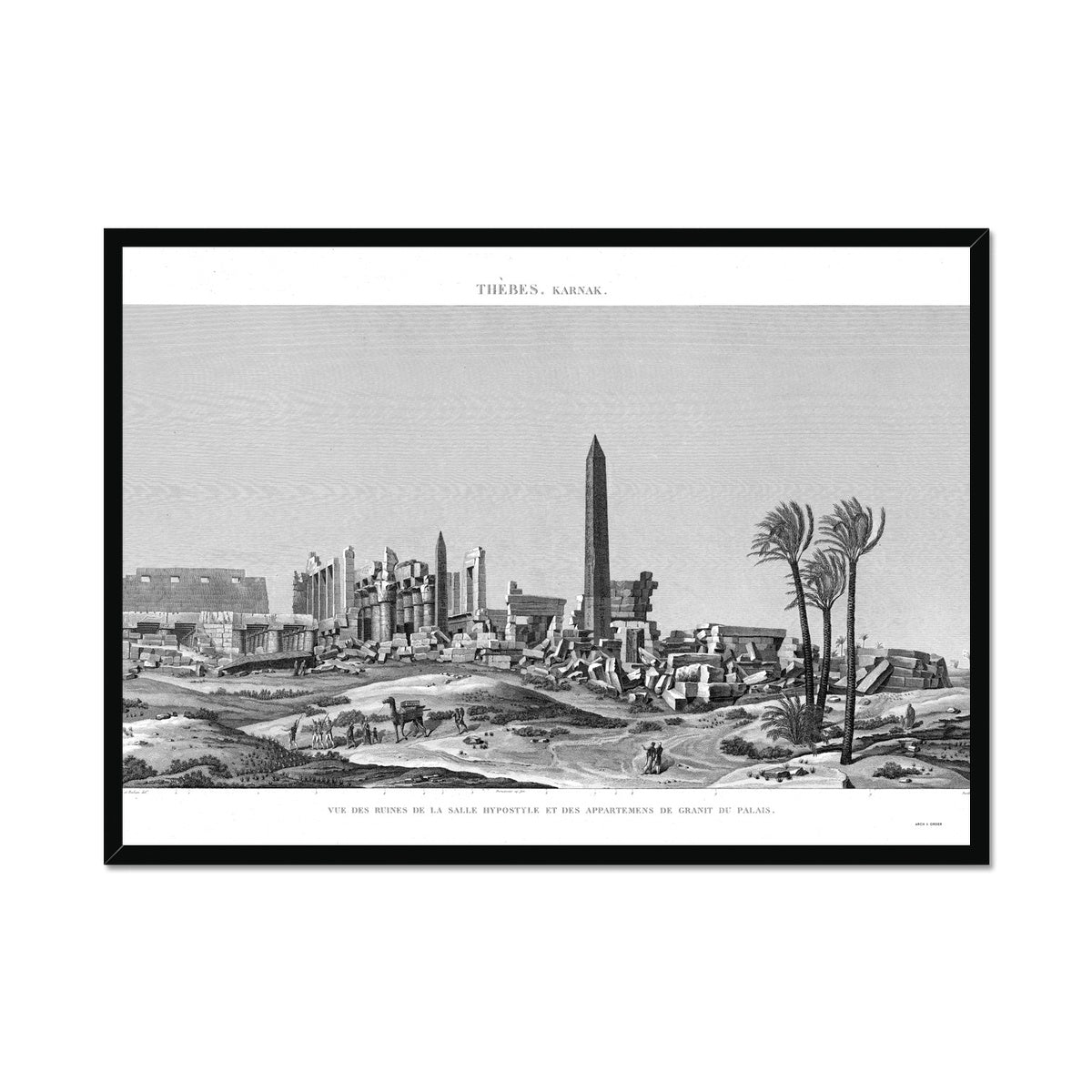 Ruins of the Hypostyle Hall - Karnak - Thebes Egypt -  Framed Print