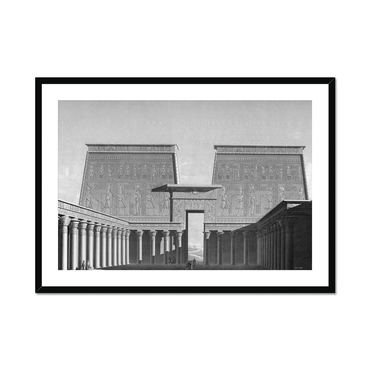 Temple of Horus Courtyard - Edfu Egypt -  Framed & Mounted Print