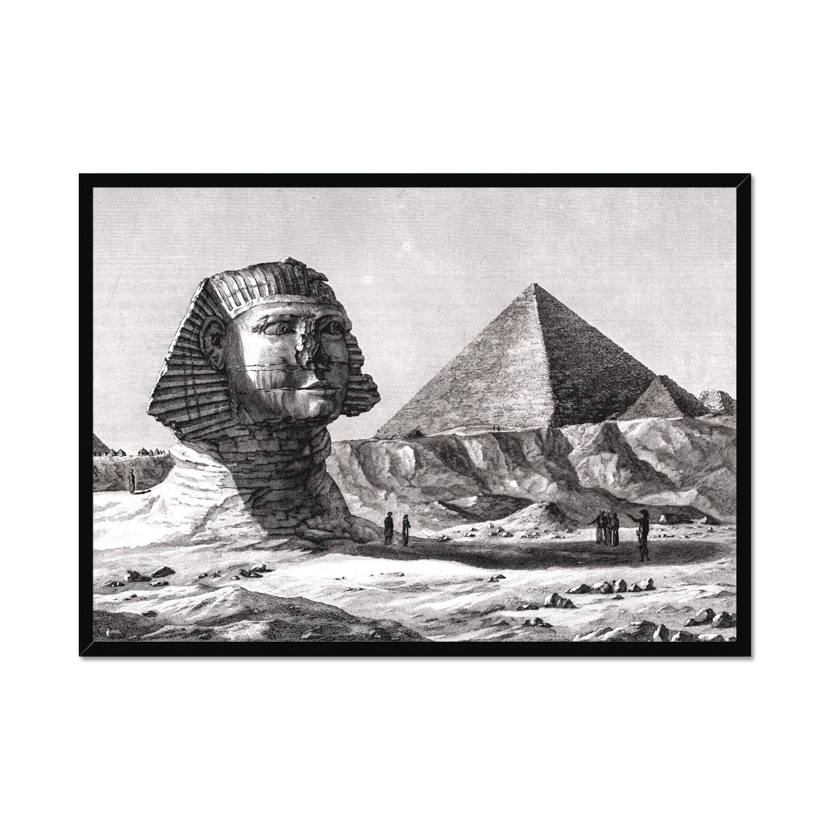 View of the Sphinx - Memphis Egypt -  Framed Print