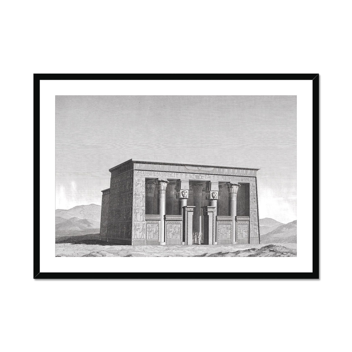 Lower Temple - Esna Egypt -  Framed & Mounted Print